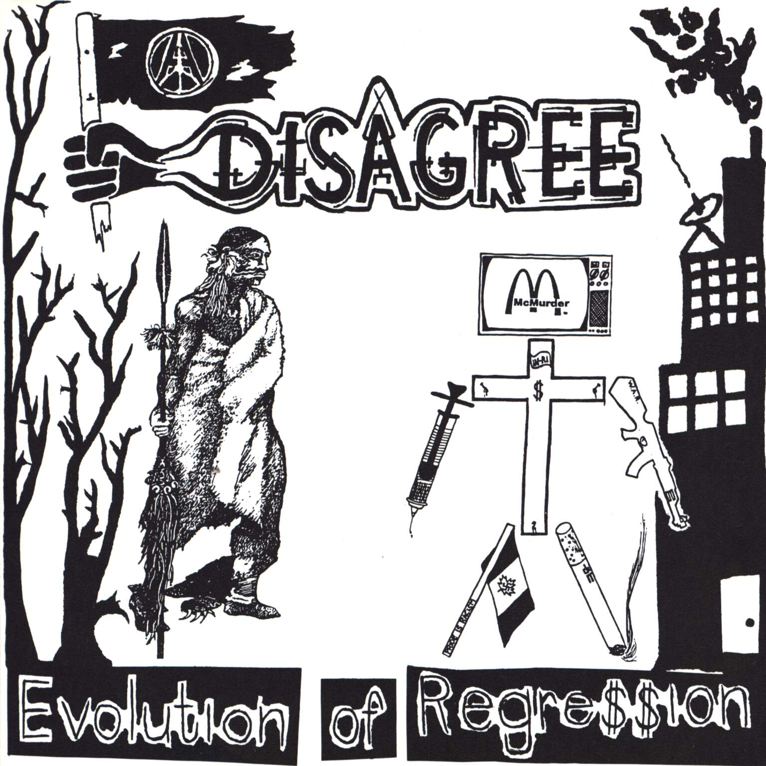 "Disagree: Evolution Of Regre$$ion / The End Of Supremacy, 7"" Single (Vinyl)"