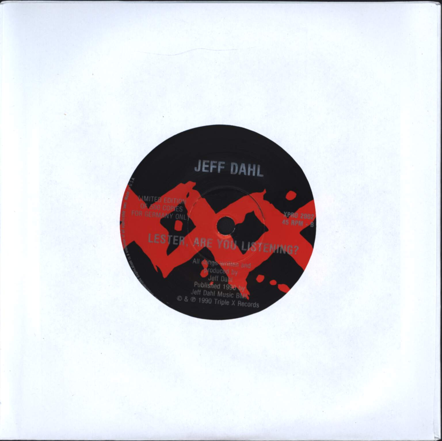 "Jeff Dahl: Gravity / Lester, Are You Listening?, 7"" Single (Vinyl)"