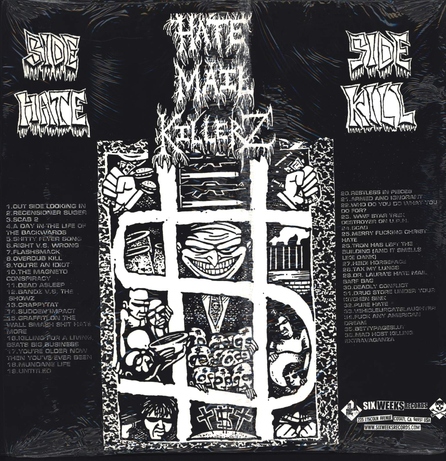 Hatemail Killerz: Pipe Bombs And Anthrax, LP (Vinyl)