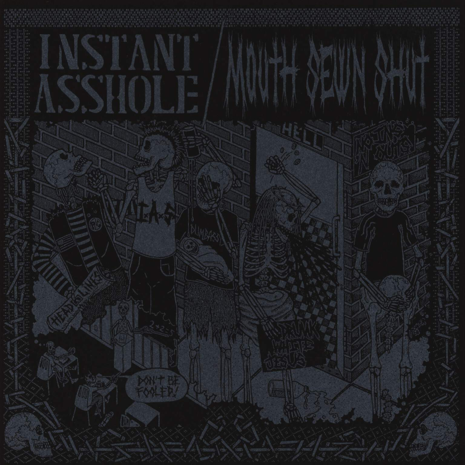 "Instant Asshole: Instant Asshole / Mouth Sewn Shut, 7"" Single (Vinyl)"