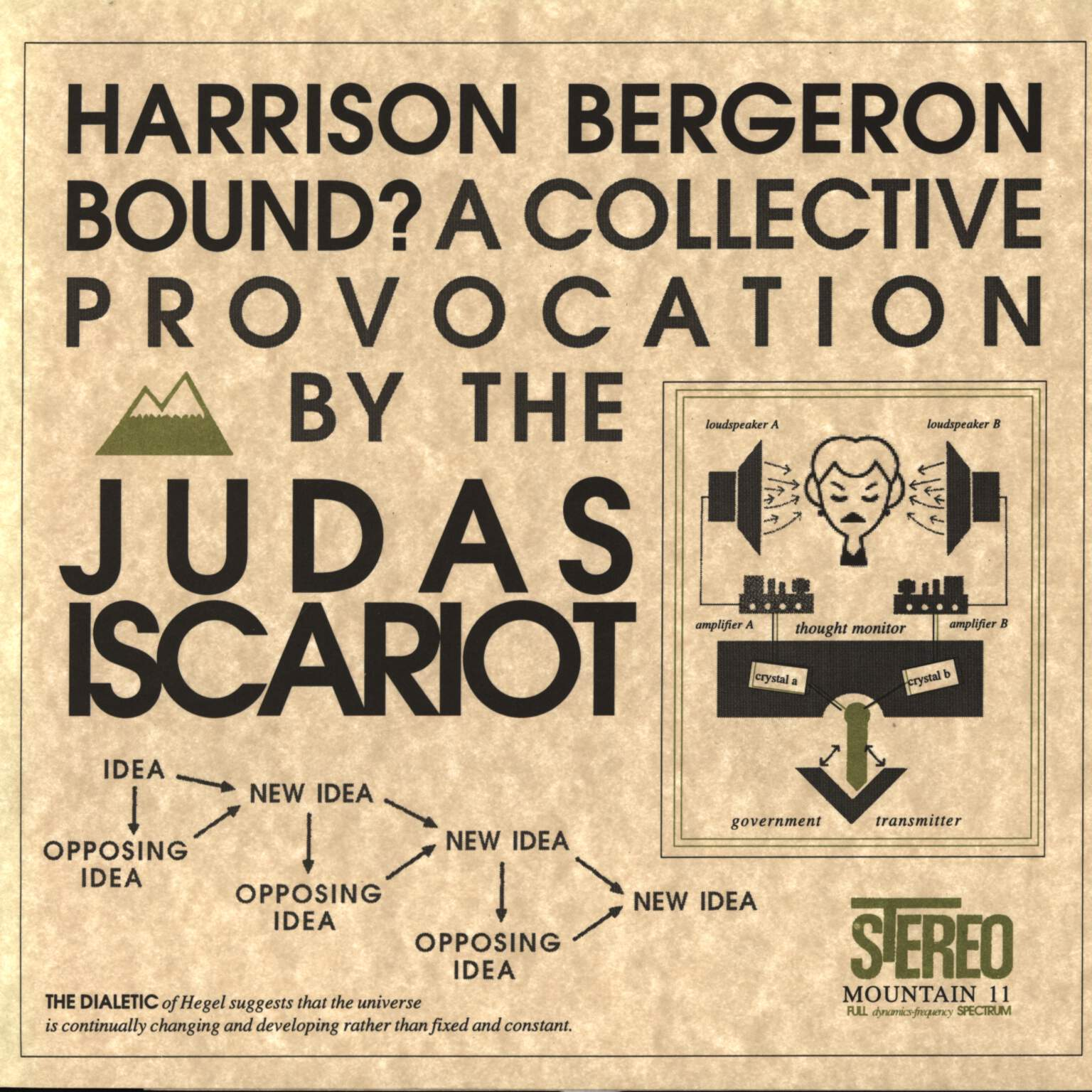 "The Judas Iscariot: Harrison Bergeron Bound? (A Collective Provocation By The Judas Iscariot), 7"" Single (Vinyl)"