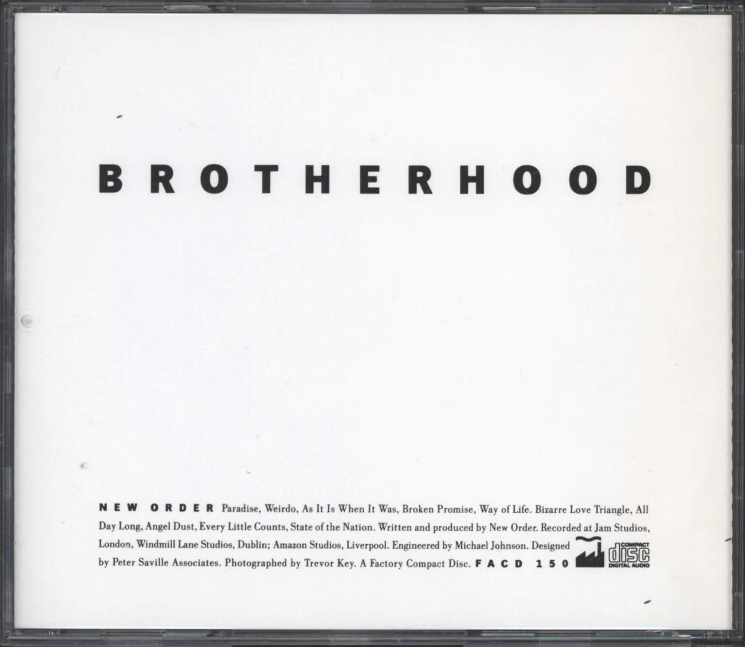 New Order: Brotherhood, CD