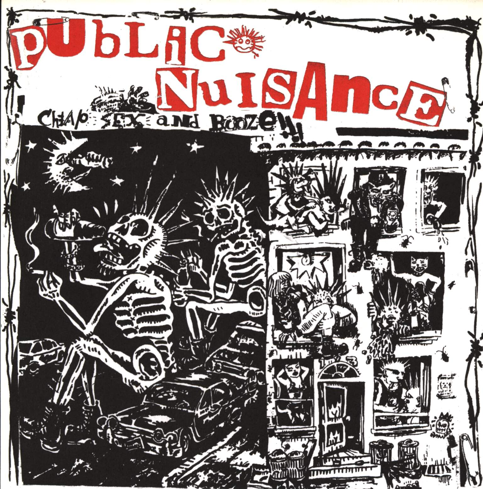 "Public Nuisance: Cheap Sex And Booze, 7"" Single (Vinyl)"