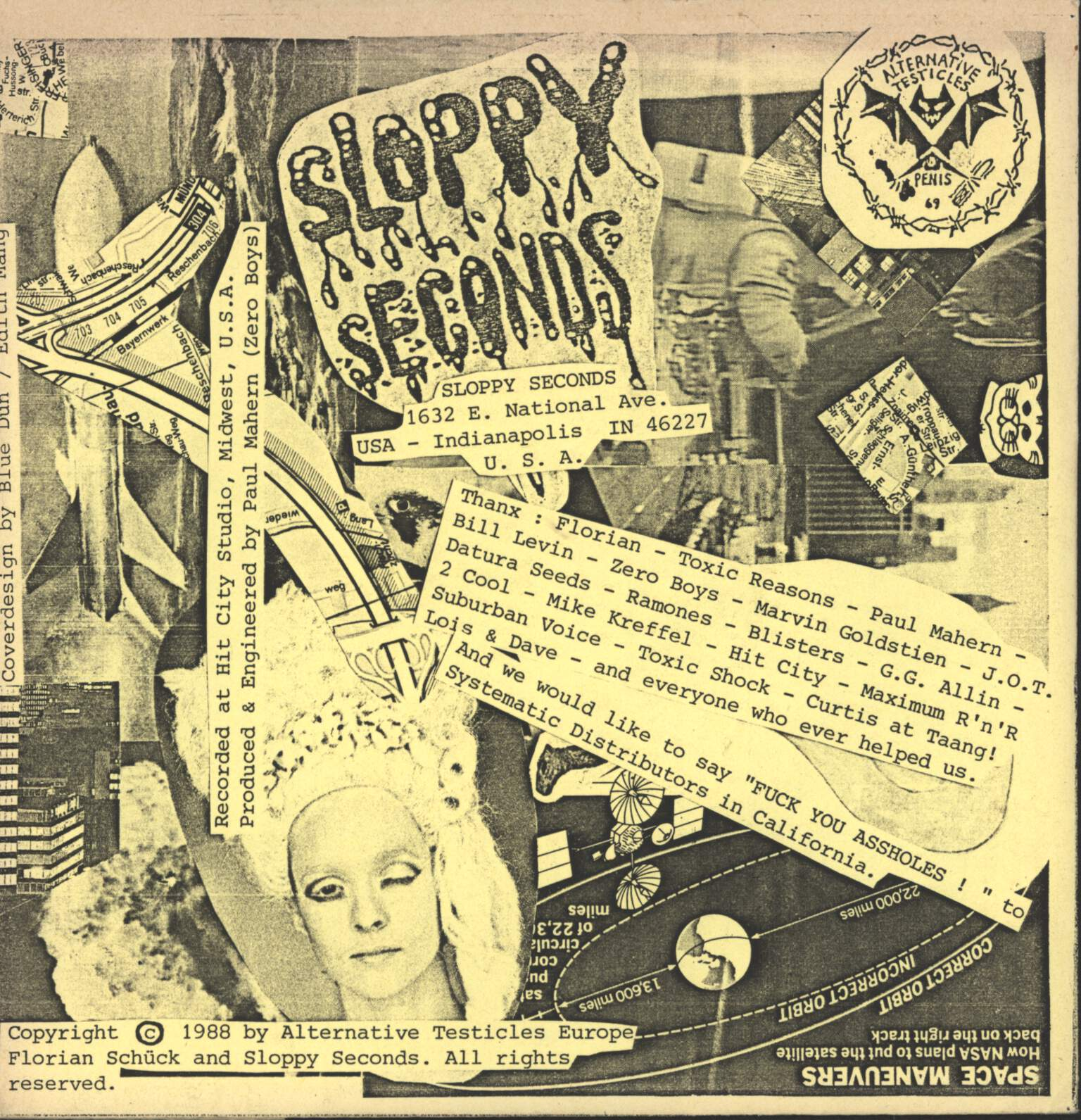 "Sloppy Seconds: Germany EP, 7"" Single (Vinyl)"