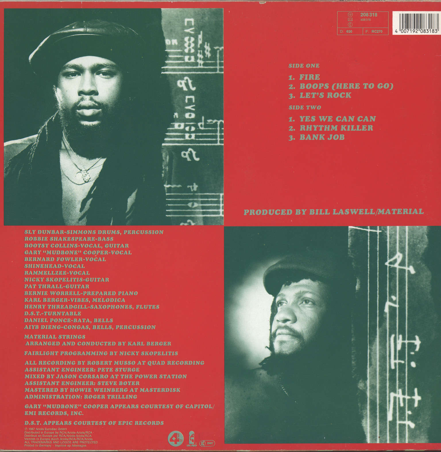 Sly + Robbie: Rhythm Killers, LP (Vinyl)