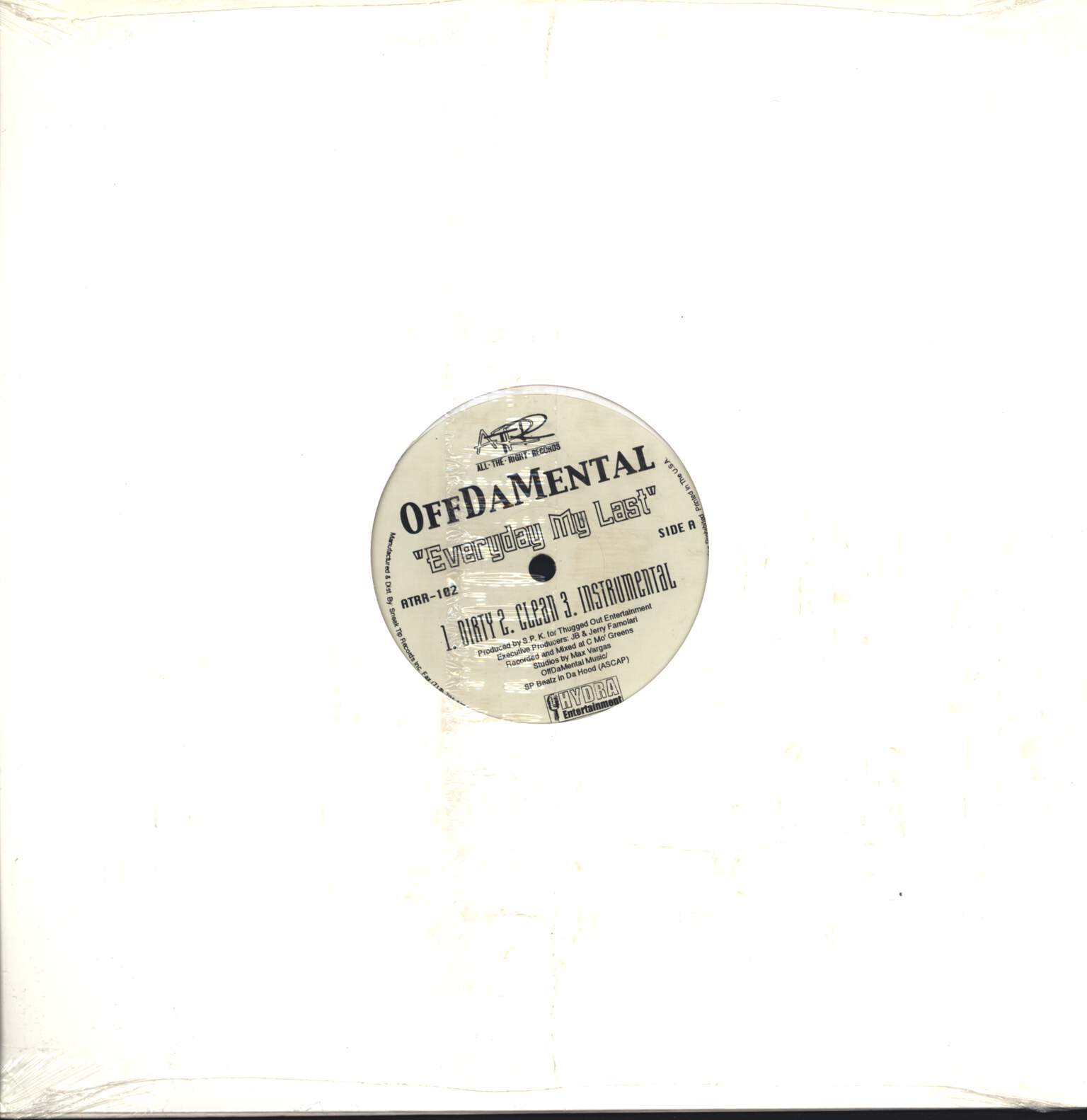 "OffDaMental: Everyday My Last / Living It Up, 12"" Maxi Single (Vinyl)"