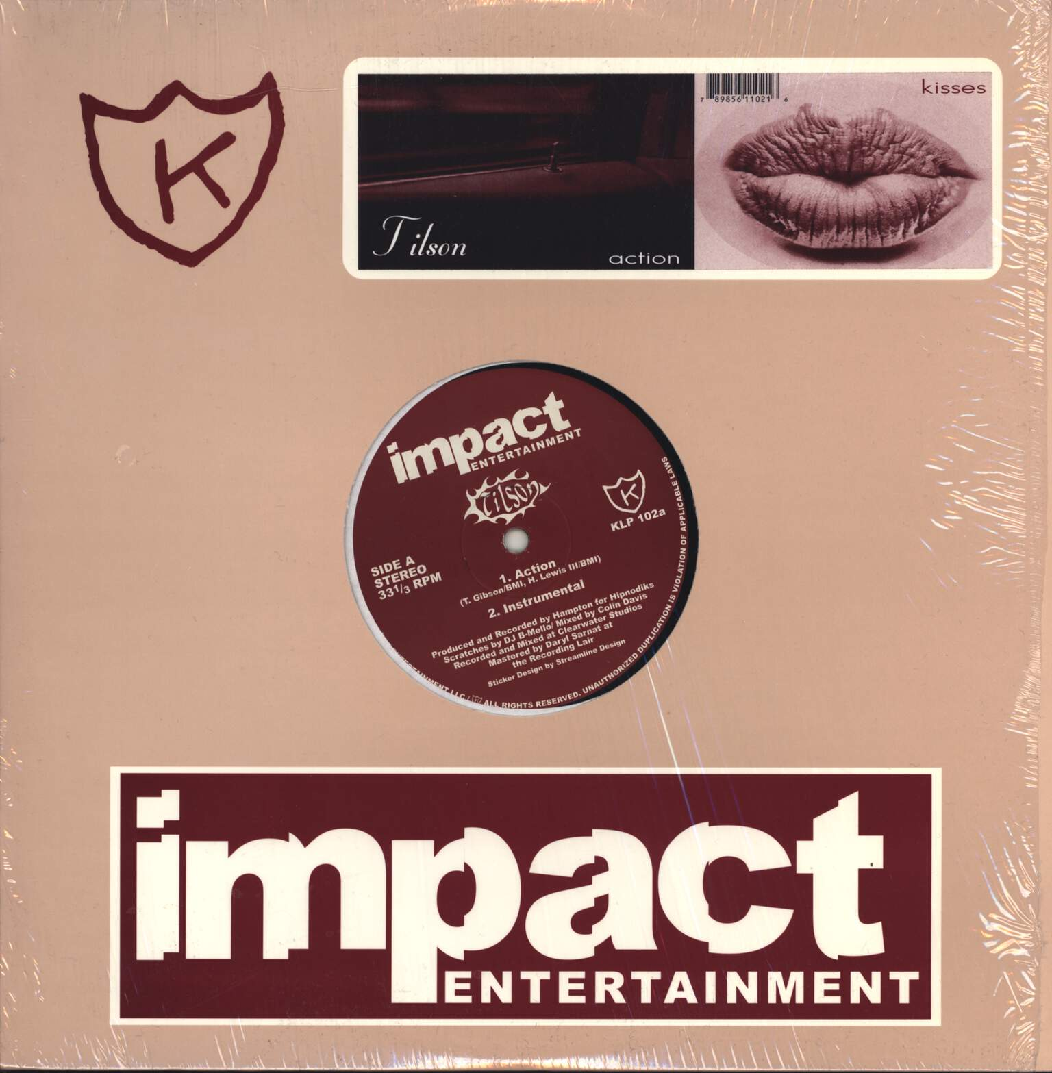 "Tilson: Action / Kisses, 12"" Maxi Single (Vinyl)"