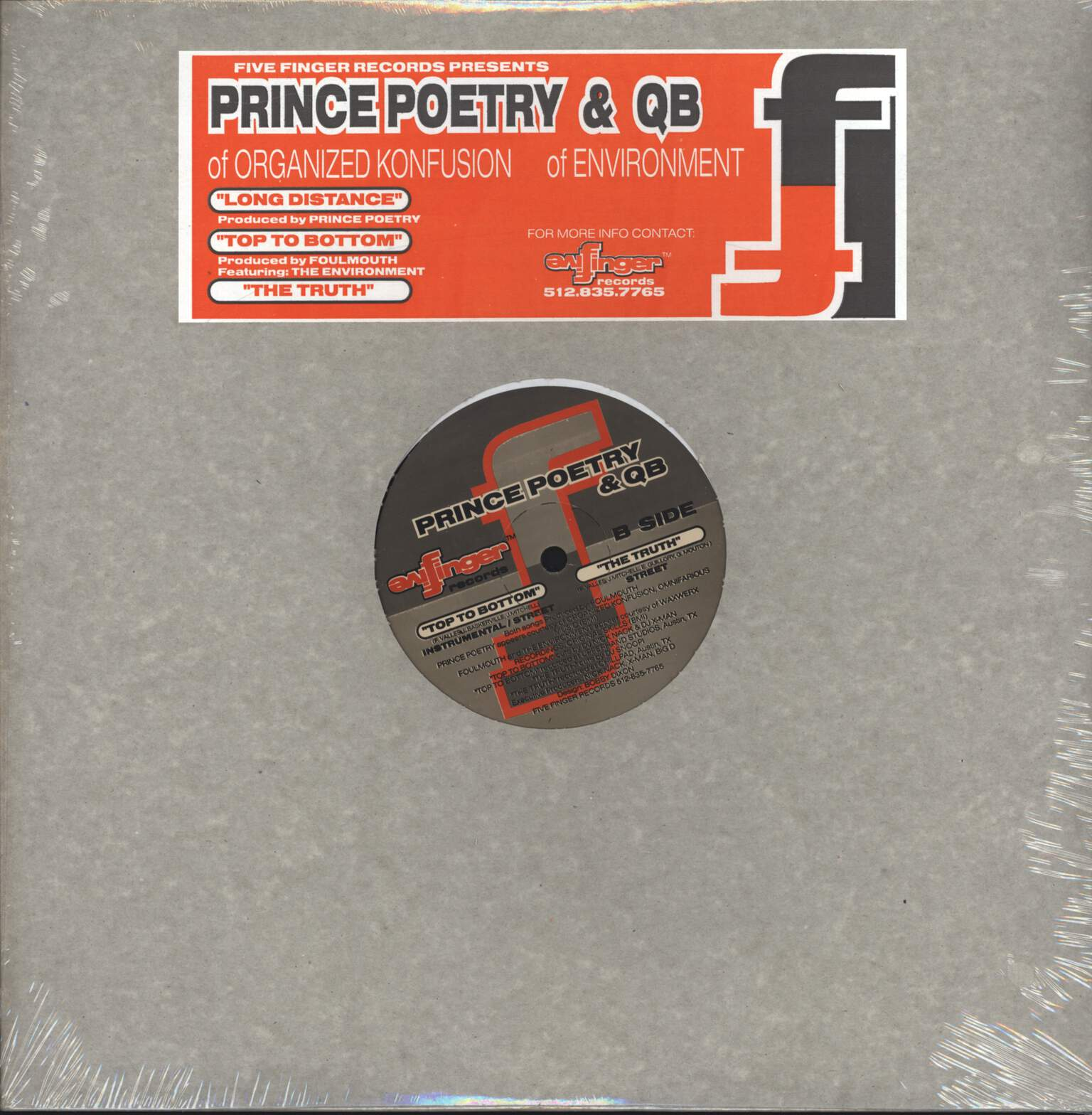 "Prince Po: Long Distance / Top To Bottom / The Truth, 12"" Maxi Single (Vinyl)"