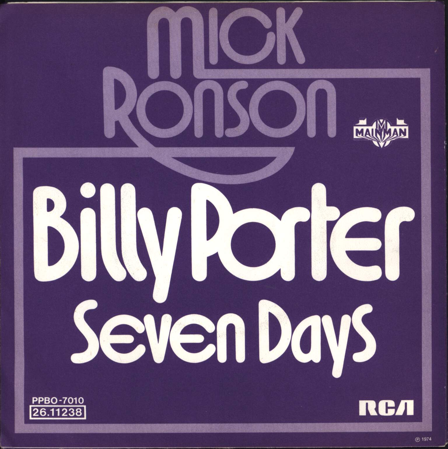 "Mick Ronson: Billy Porter, 7"" Single (Vinyl)"