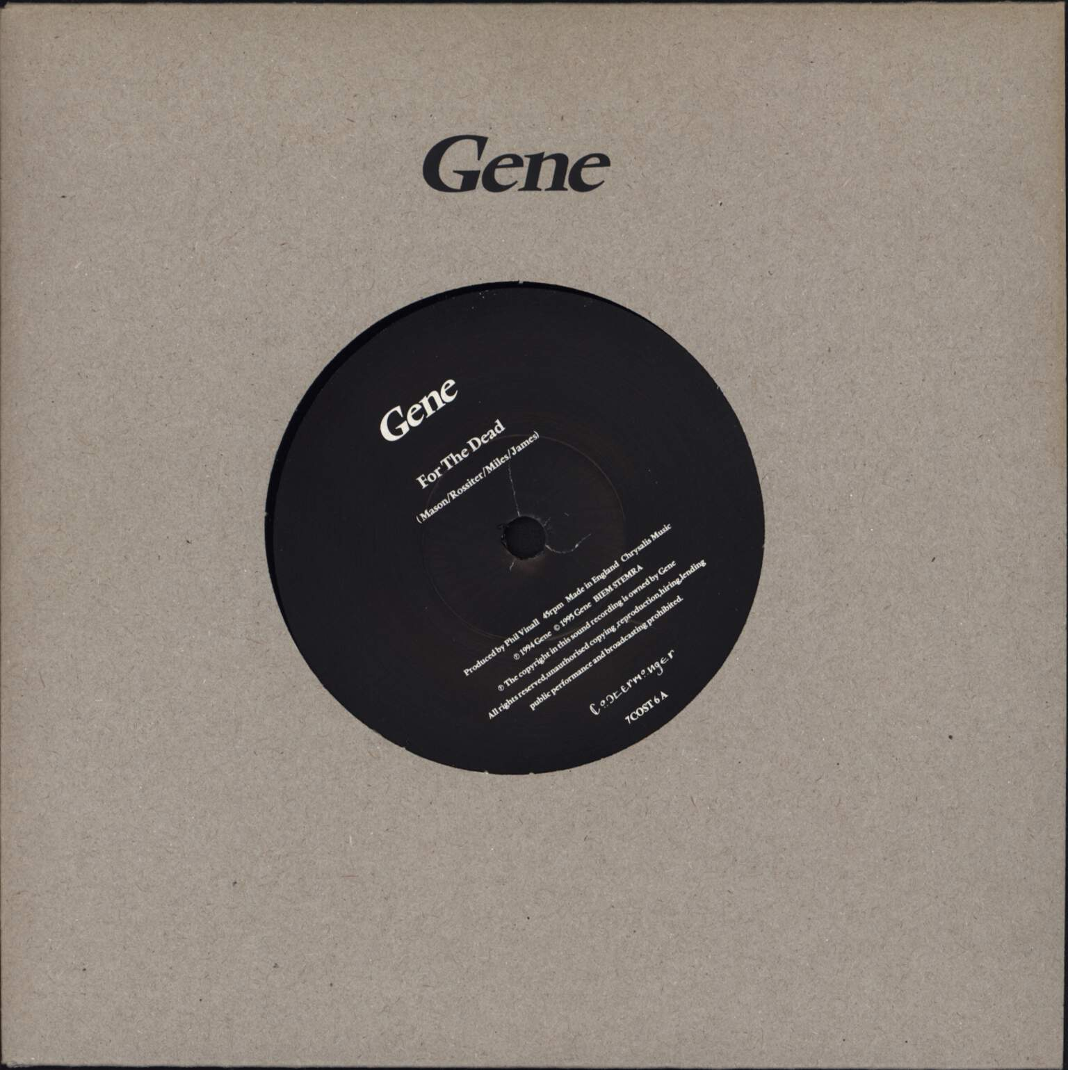 "Gene: For The Dead / Child's Body, 7"" Single (Vinyl)"