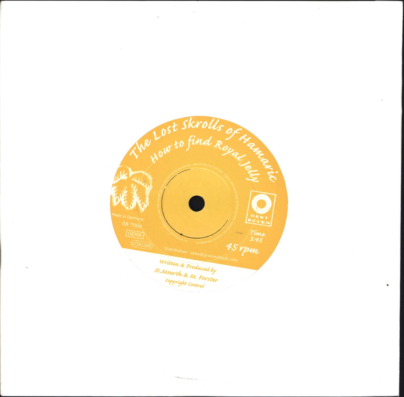 "The Lost Skrolls Of Hamaric: How To Find Royal Jelly, 7"" Single (Vinyl)"