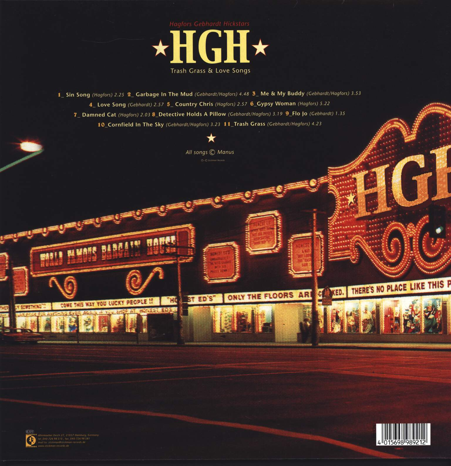 HGH: Trash Grass & Love Songs, LP (Vinyl)