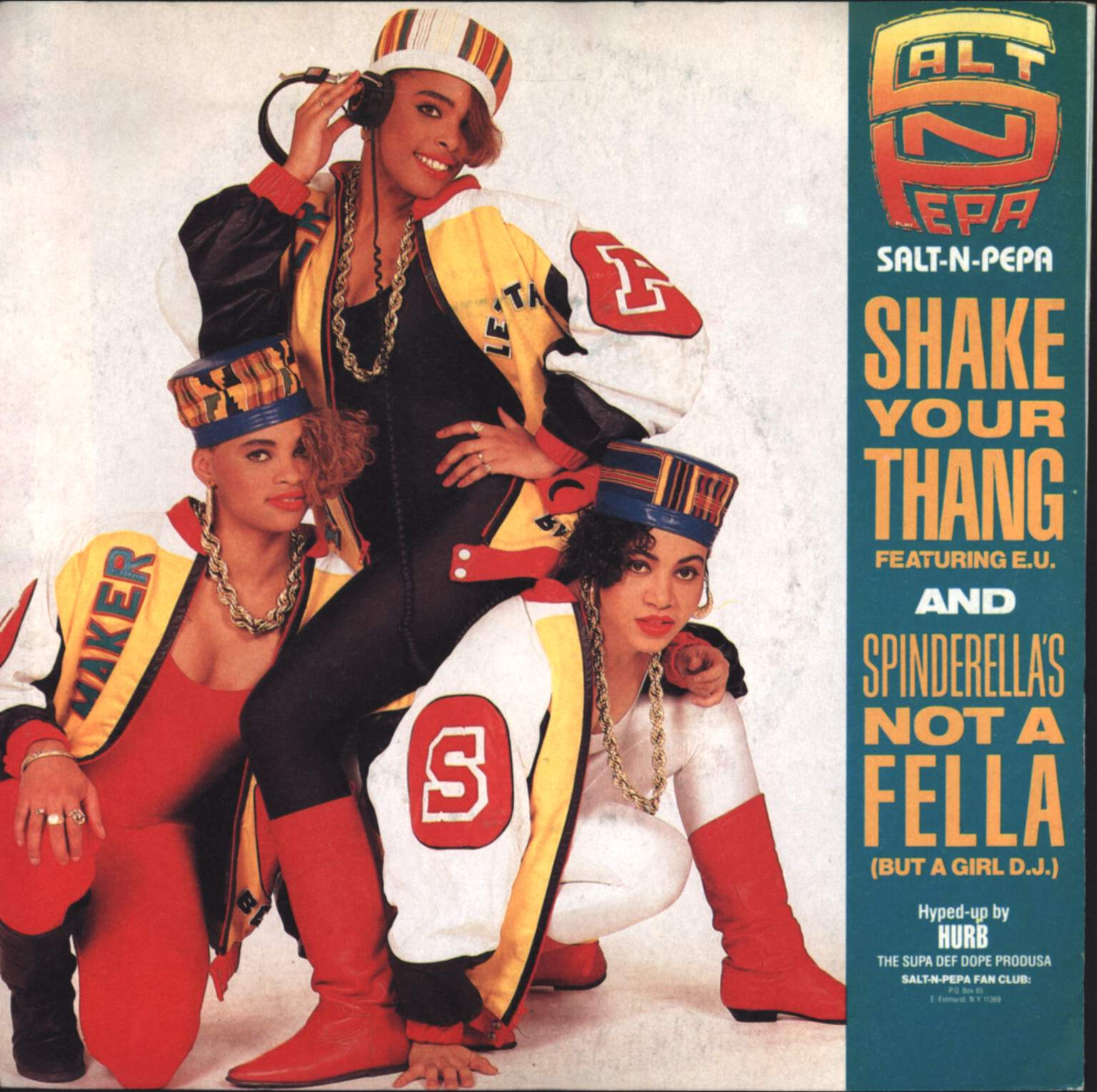 "Salt N Pepa: Shake Your Thang / Spinderella's Not A Fella (But A Girl D.J.), 7"" Single (Vinyl)"