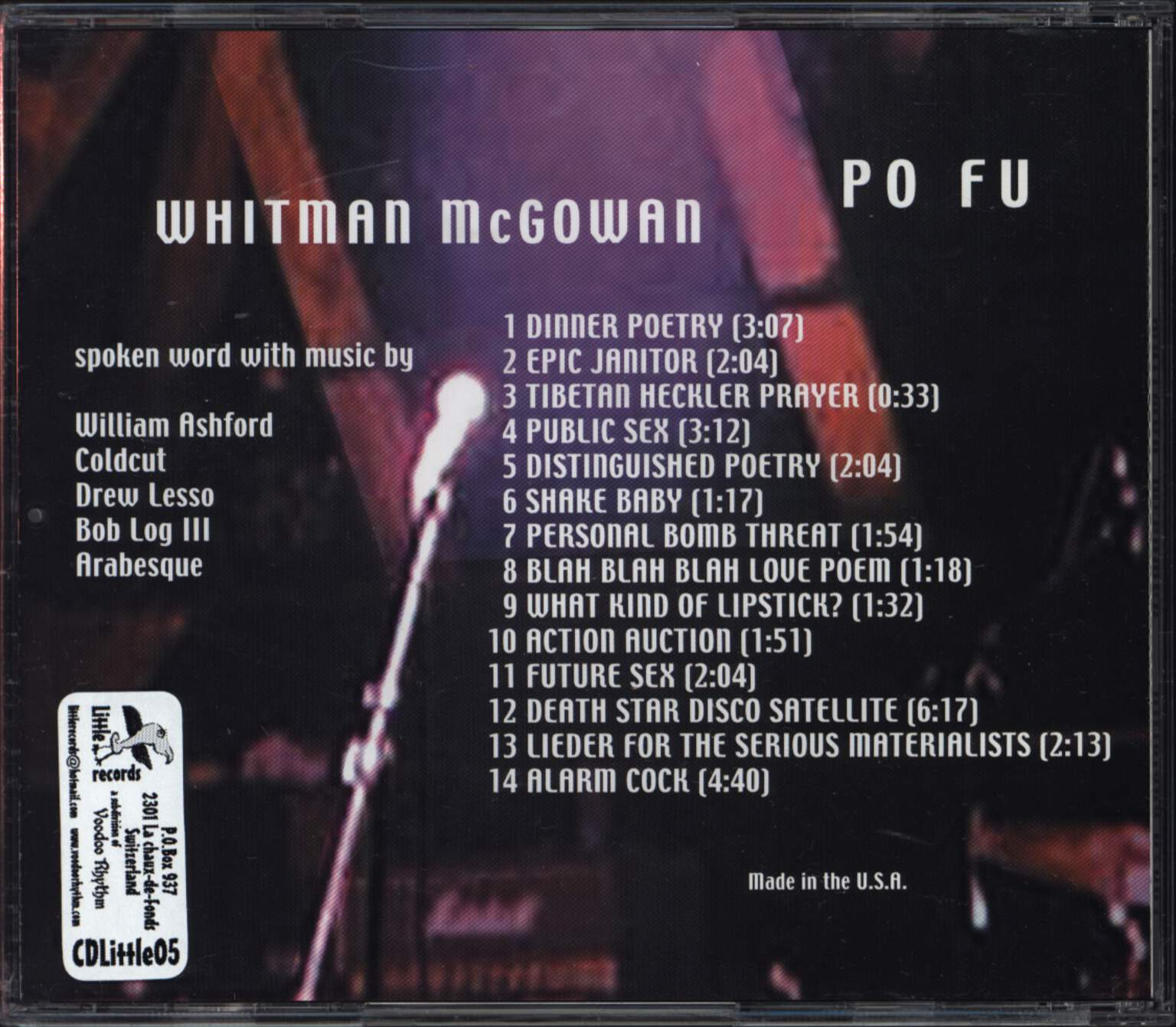 Whitman McGowan: Po Fu, CD