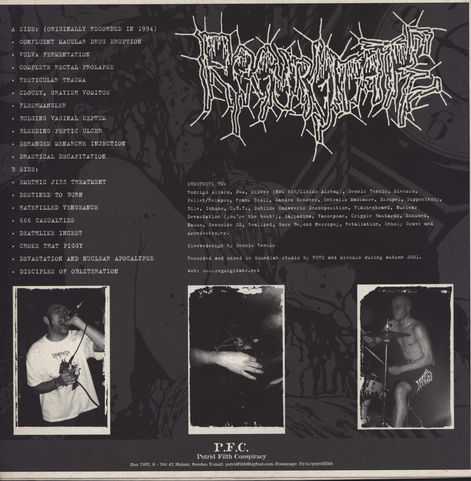 "Regurgitate: Hatefilled Vengeance, 12"" Maxi Single (Vinyl)"