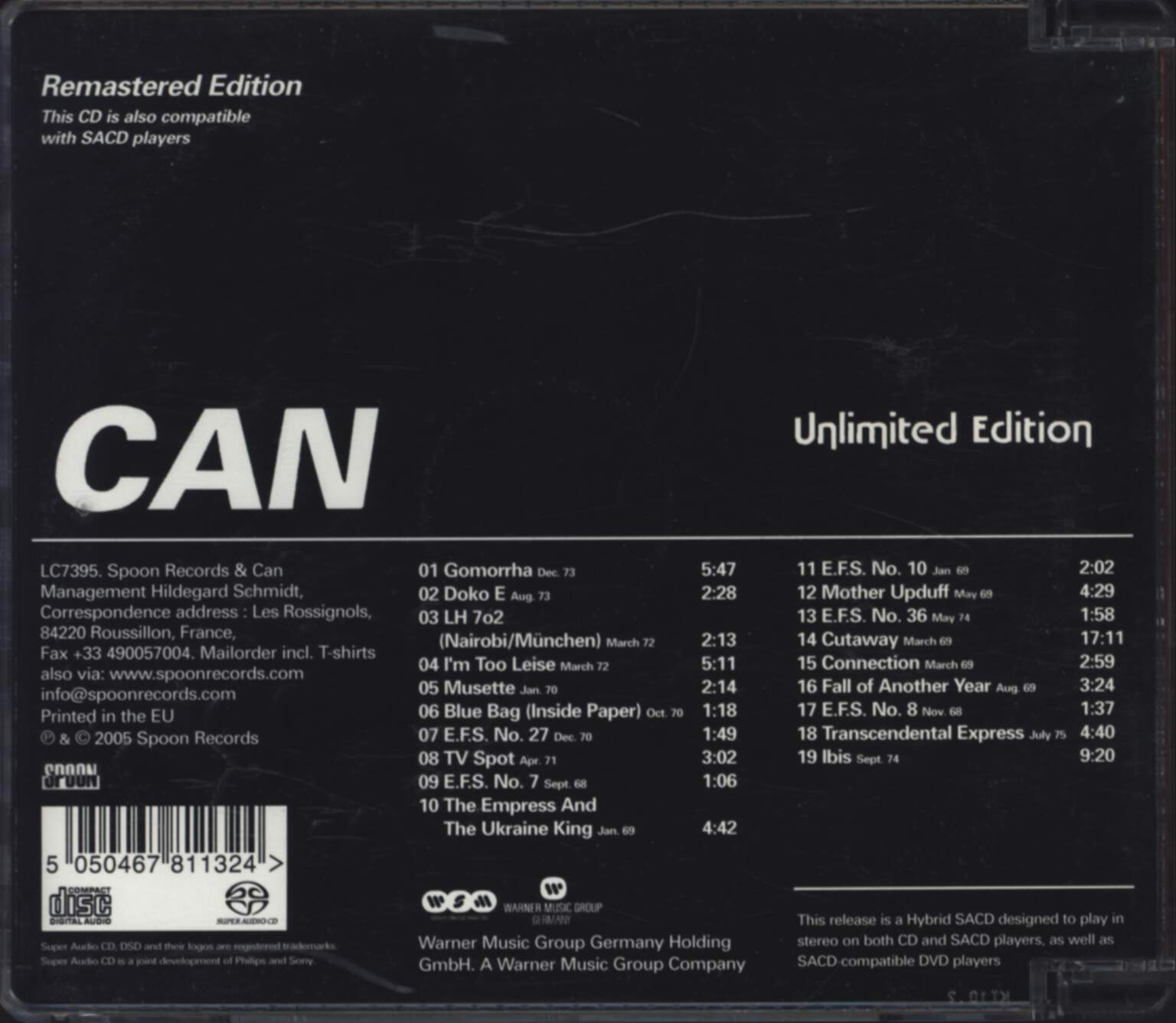 Can: Unlimited Edition, CD