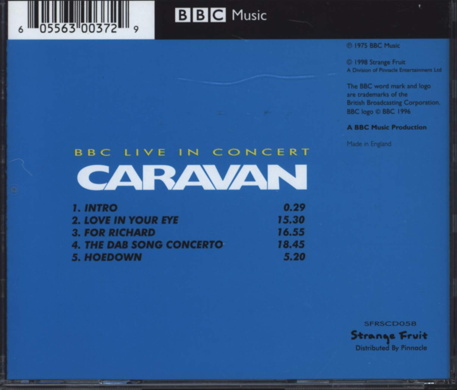 Caravan: BBC Live In Concert, CD