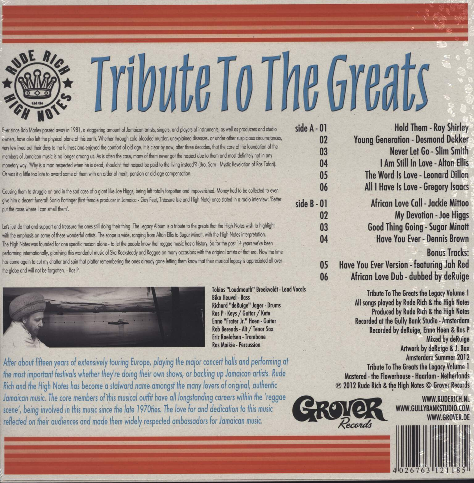 Rude Rich And The High Notes: A Tribute To The Greats, 1×LP (Vinyl)