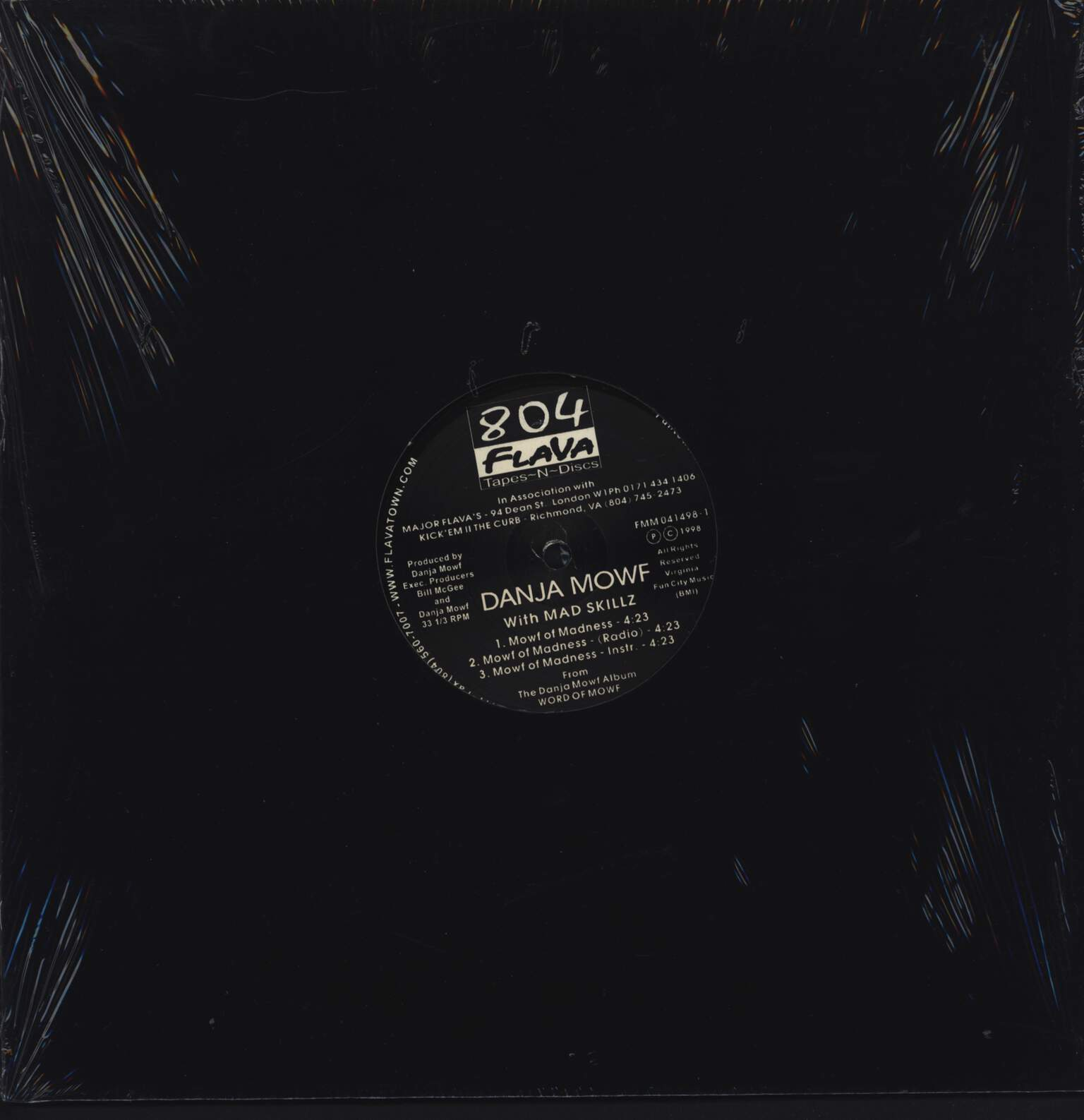 "Danja Mowf: Mowf Of Madness, 12"" Maxi Single (Vinyl)"