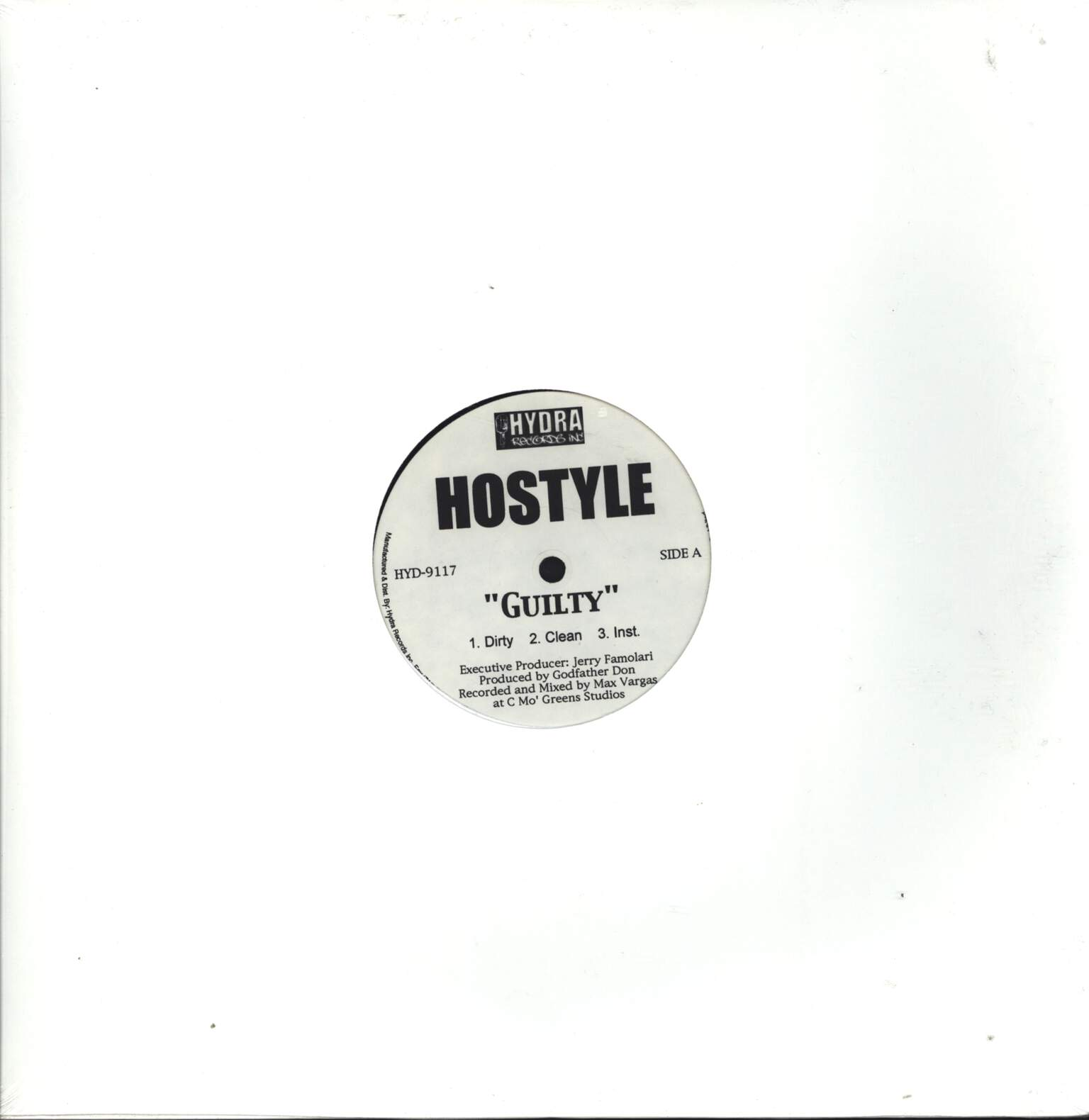 "Hostyle: Guilty / You Know The Name / This Ain't No Game, 12"" Maxi Single (Vinyl)"