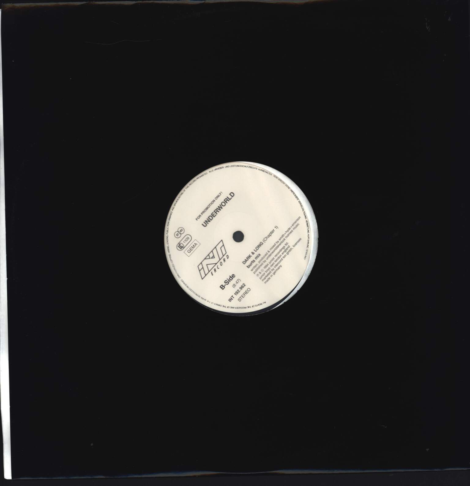 "Underworld: Dark & Long (Chapter 1), 12"" Maxi Single (Vinyl)"