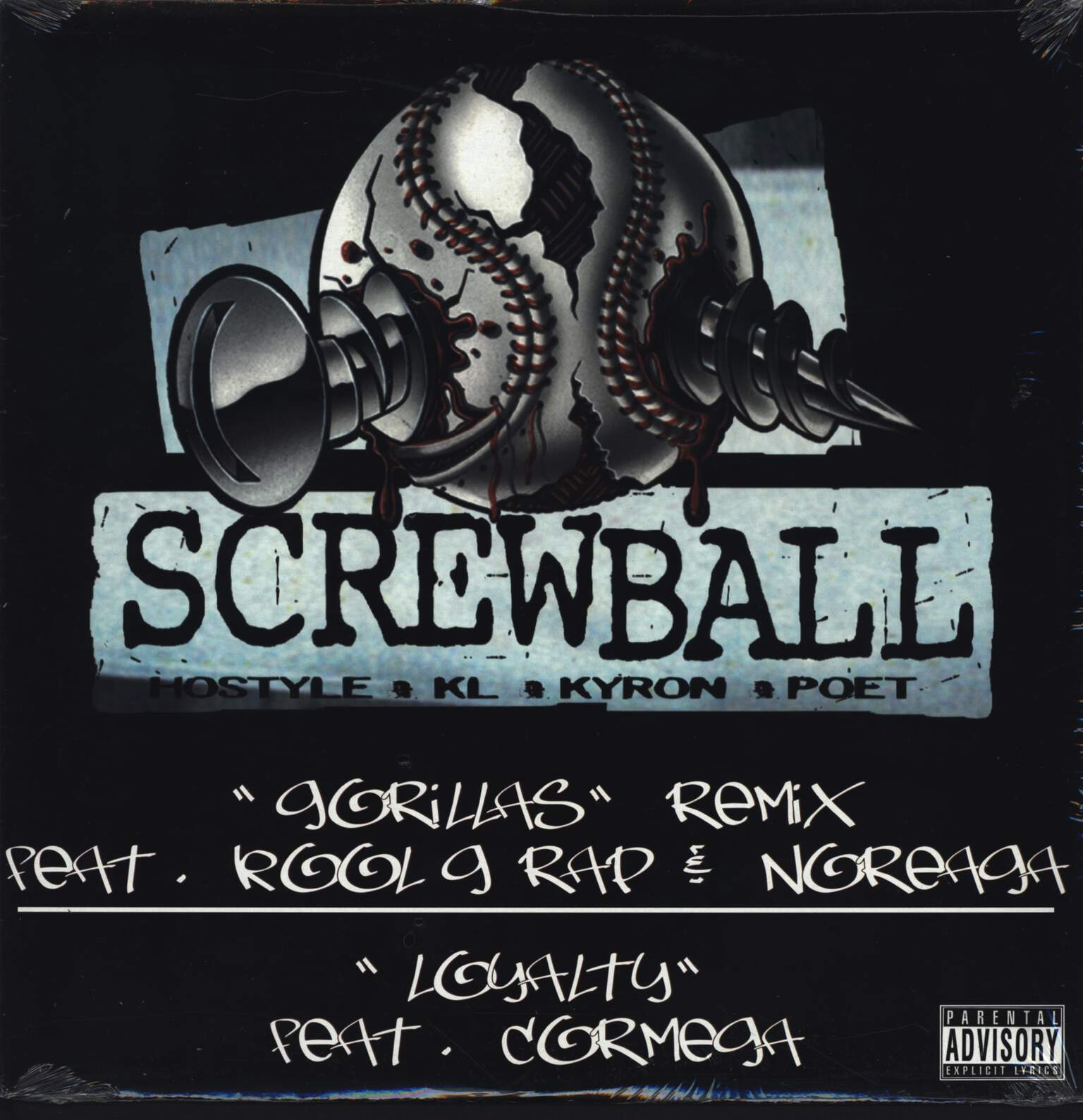 "Screwball: Gorillas (Remix), 12"" Maxi Single (Vinyl)"