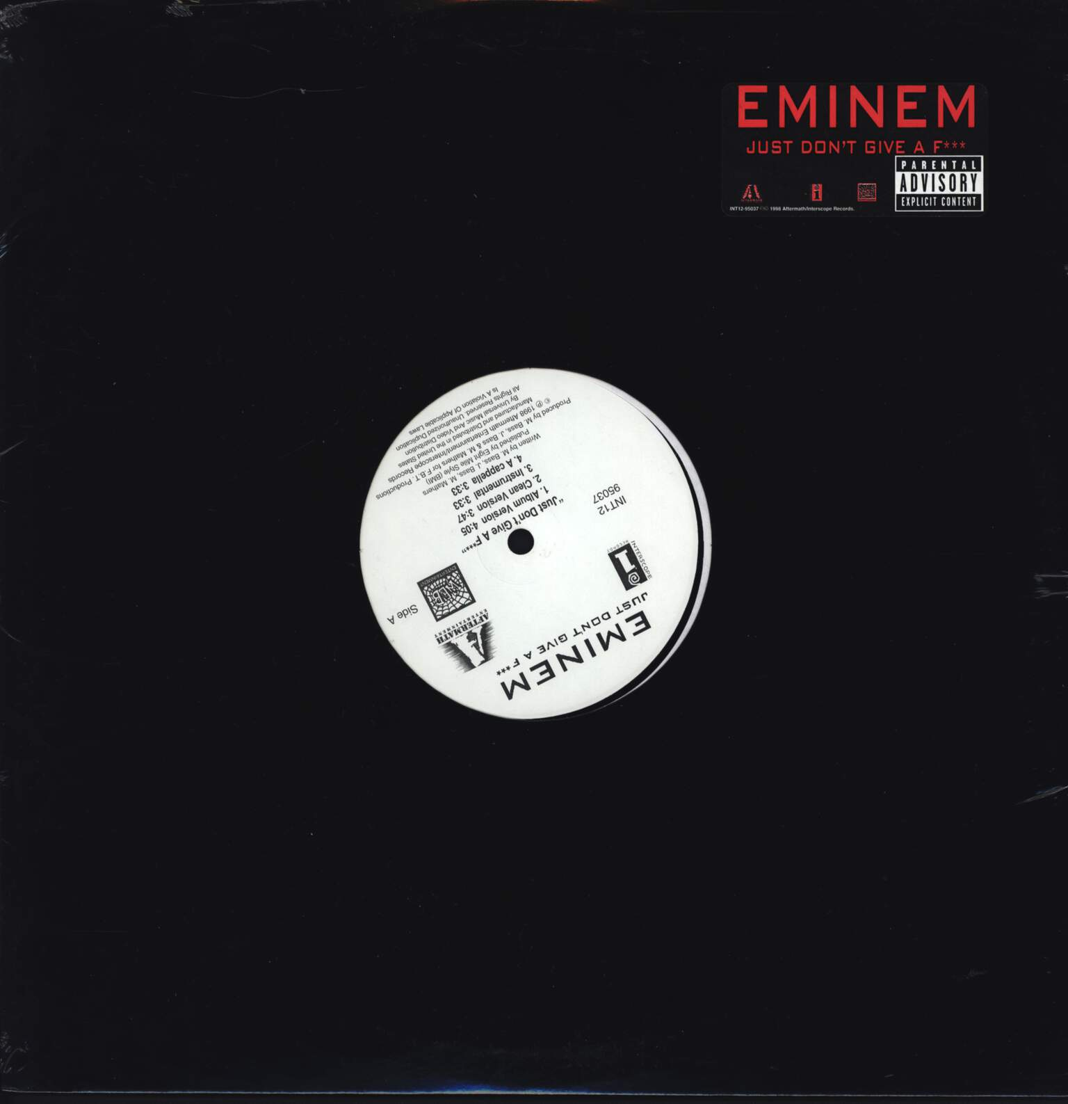 "Eminem: Just Don't Give A F***, 12"" Maxi Single (Vinyl)"