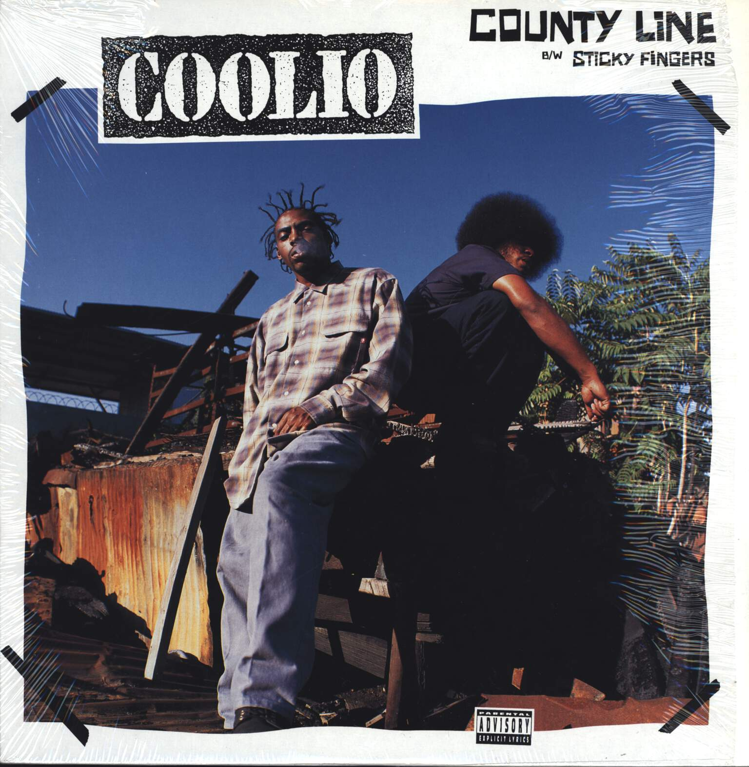 "Coolio: County Line / Sticky Fingers, 12"" Maxi Single (Vinyl)"