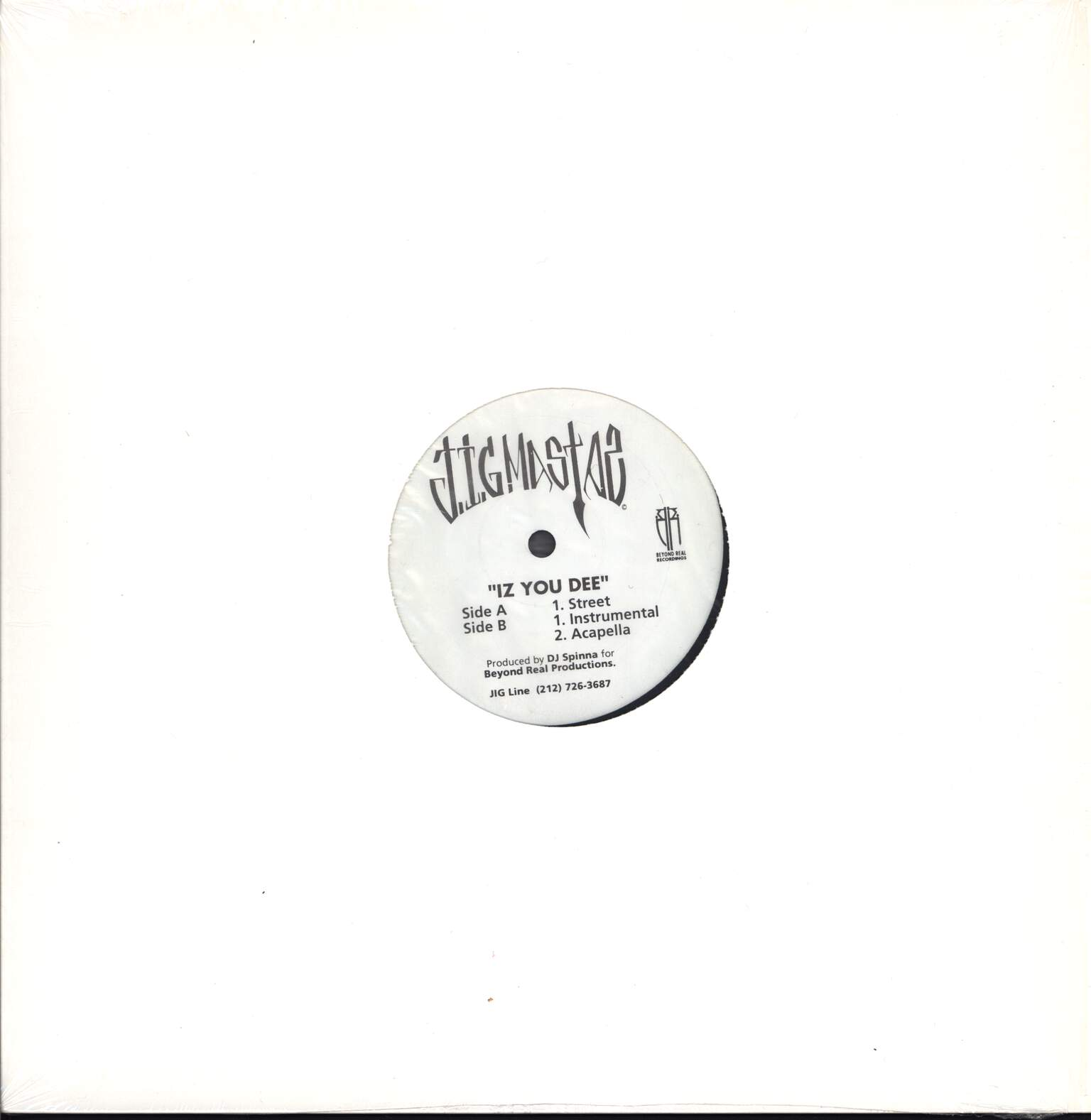 "Jigmastas: Iz You Dee, 12"" Maxi Single (Vinyl)"