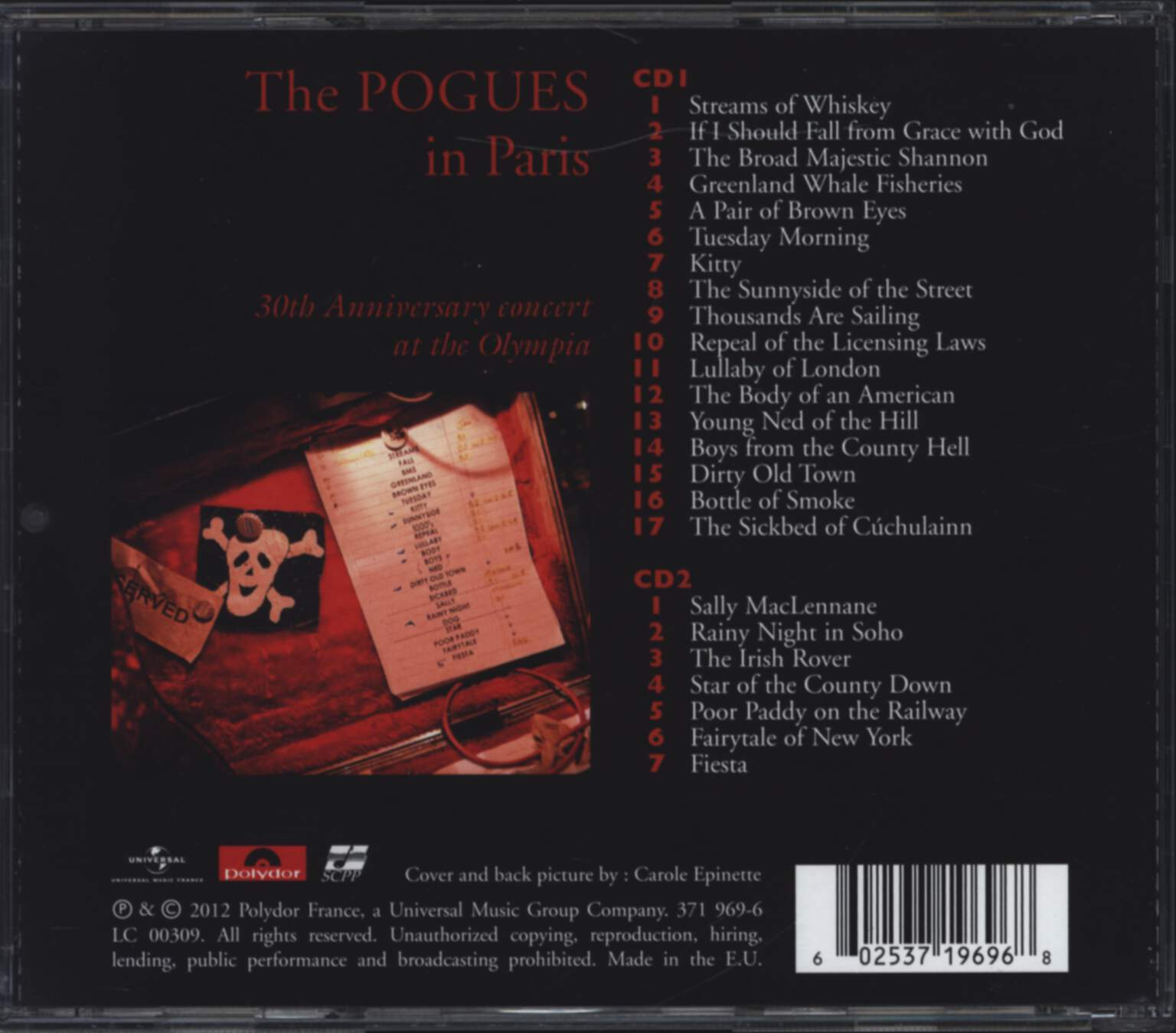 The Pogues: In Paris - 30th Anniversary Concert At The Olympia, CD