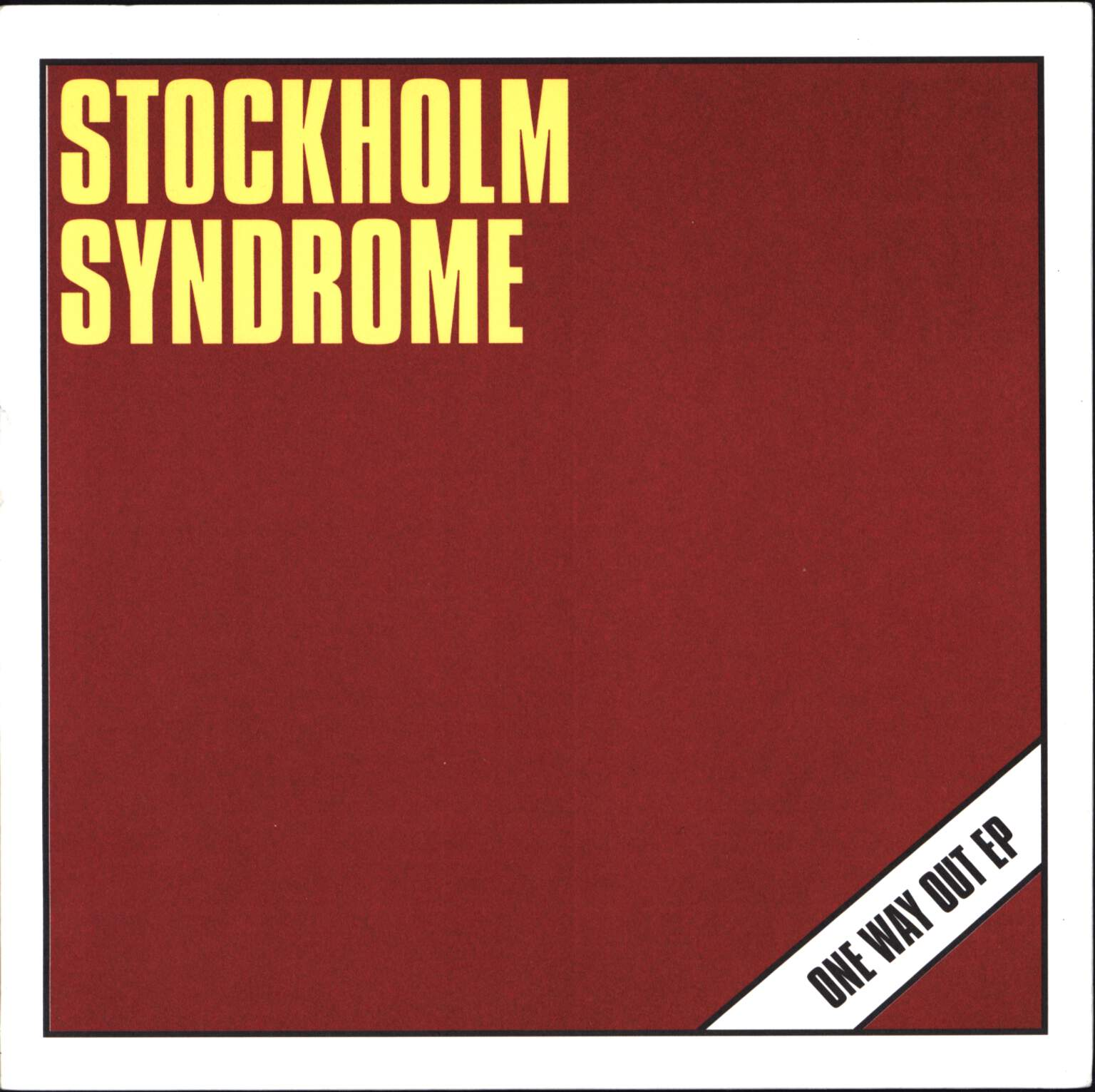 "Stockholm Syndrome: One Way Out EP, 7"" Single (Vinyl)"