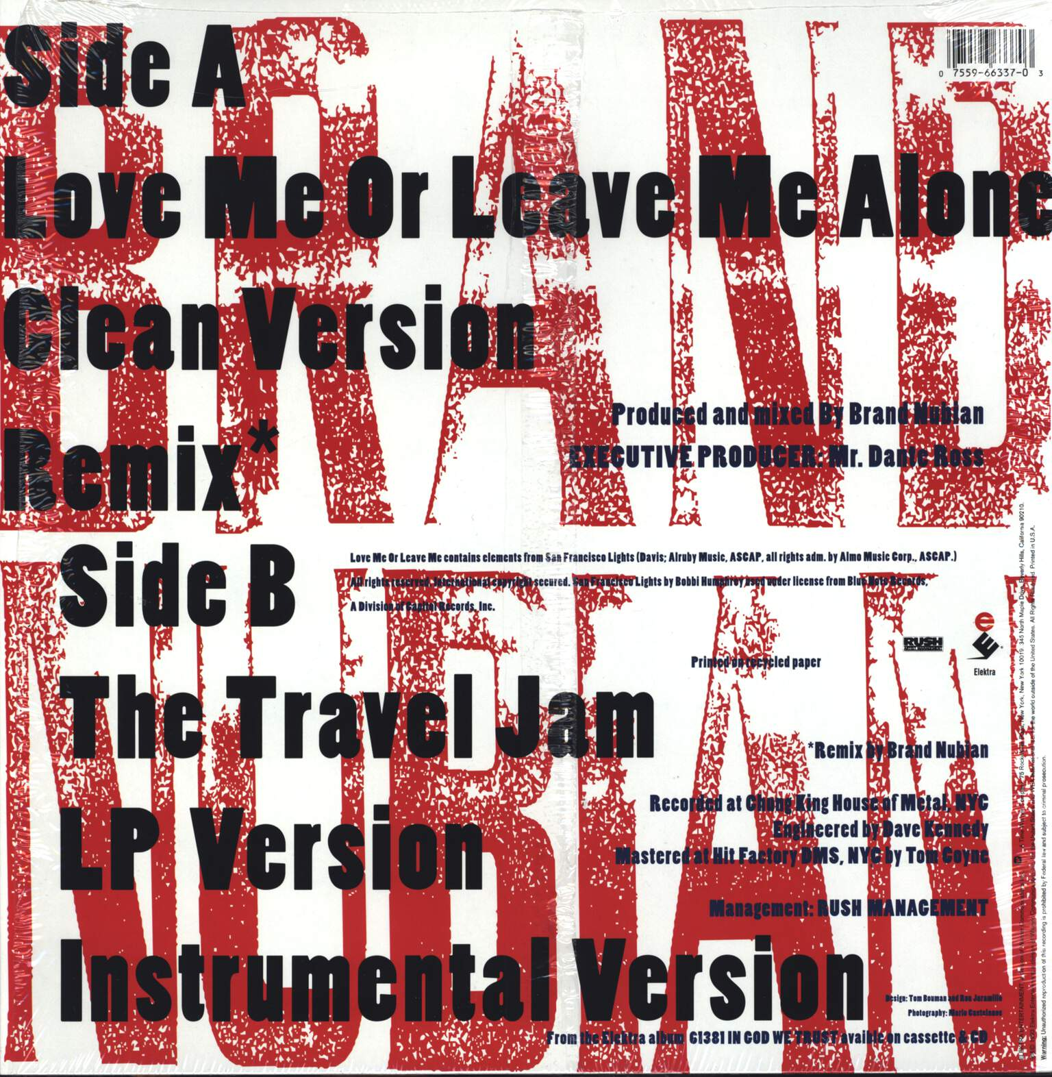 "Brand Nubian: Love Me Or Leave Me Alone, 12"" Maxi Single (Vinyl)"