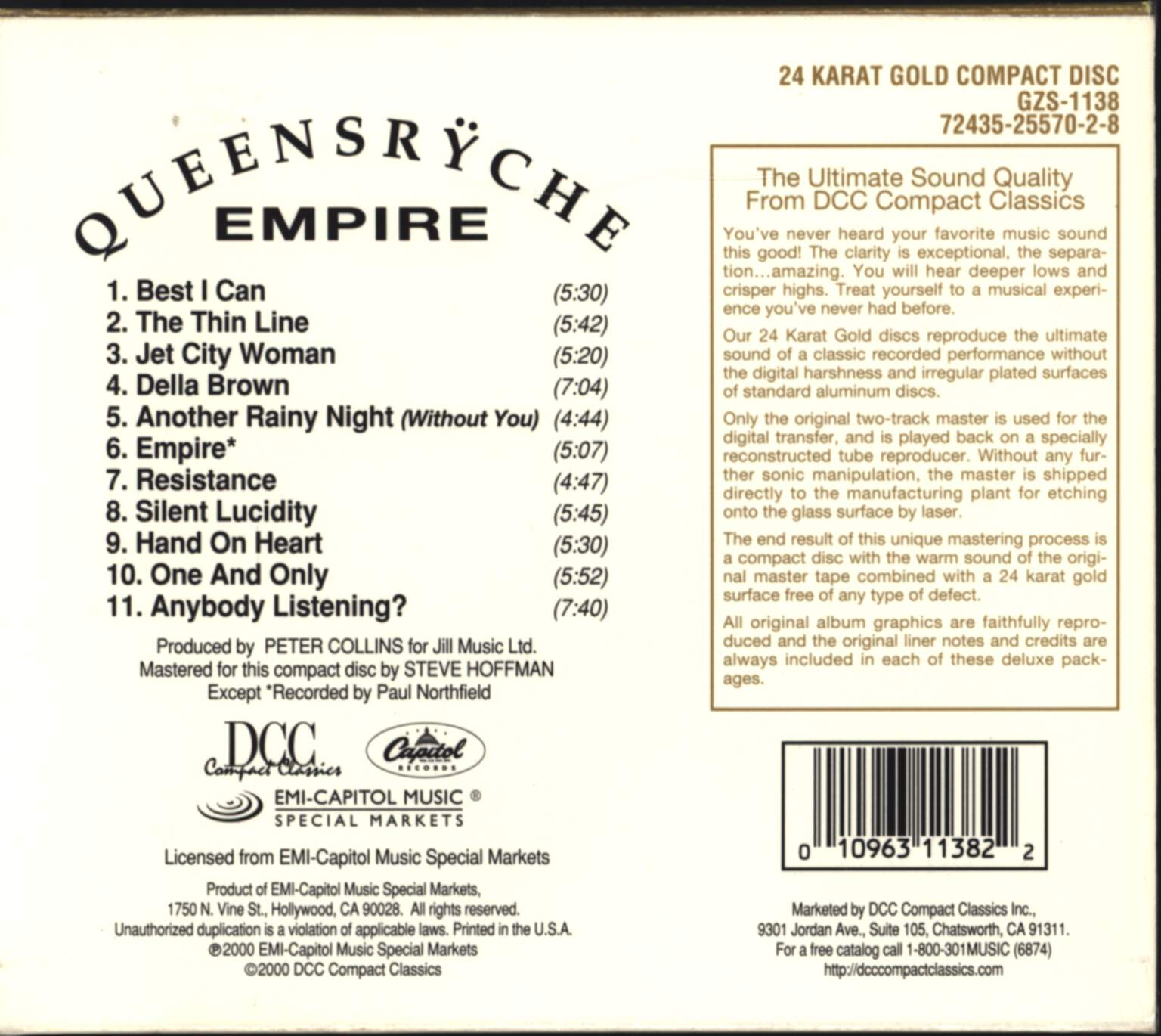 Queensryche: Empire, CD