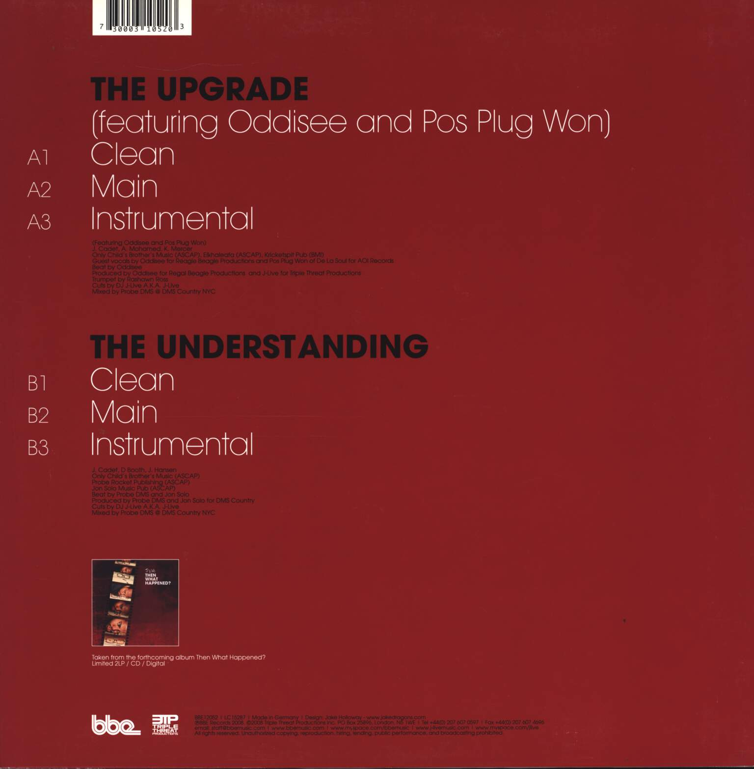 "J-Live: The Upgrade / The Understanding, 12"" Maxi Single (Vinyl)"
