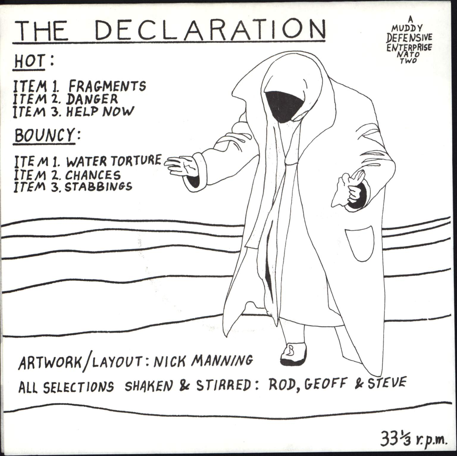 "Mud Hutters: The Declaration, 7"" Single (Vinyl)"