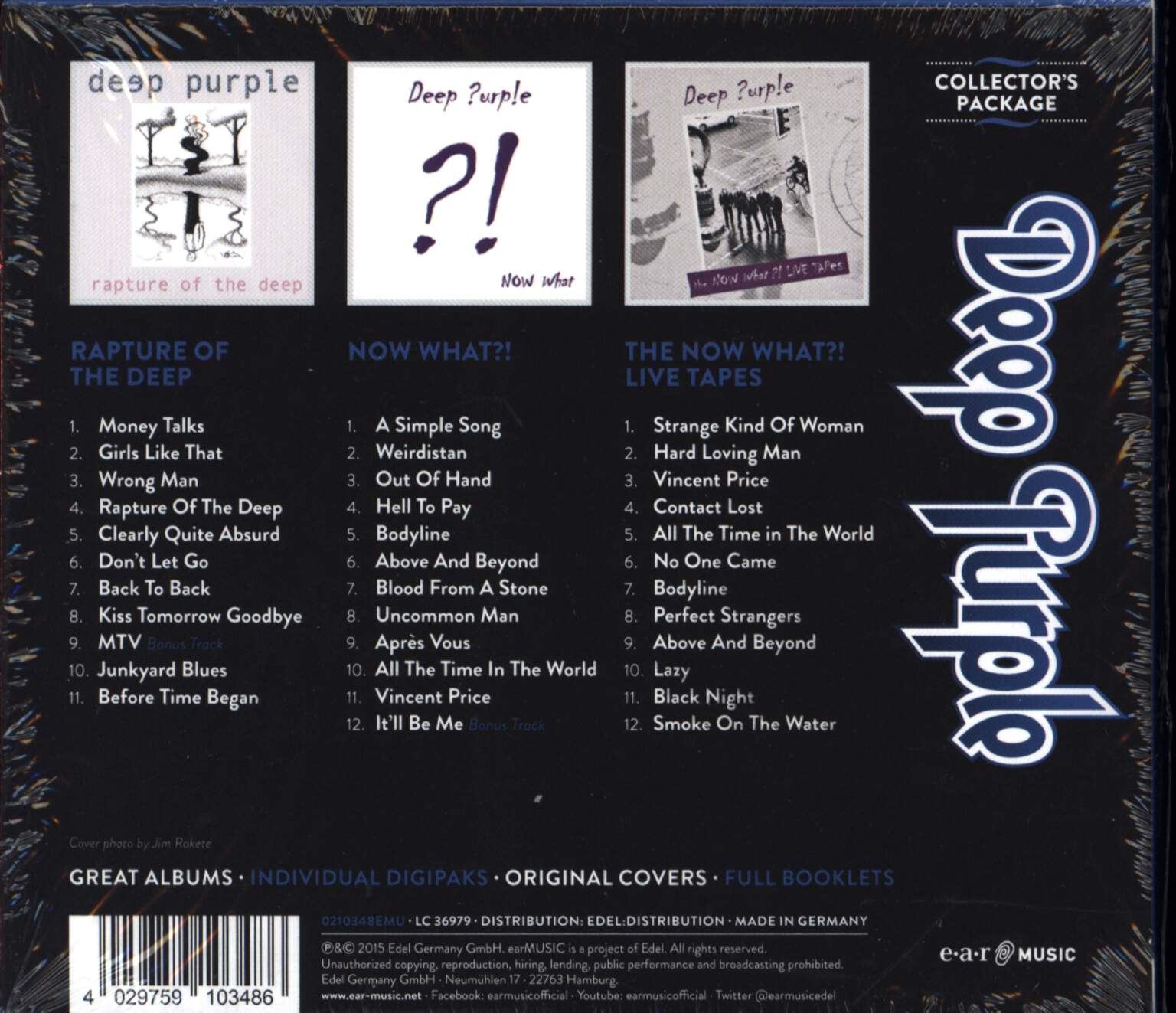 Deep Purple: Collectors package, CD