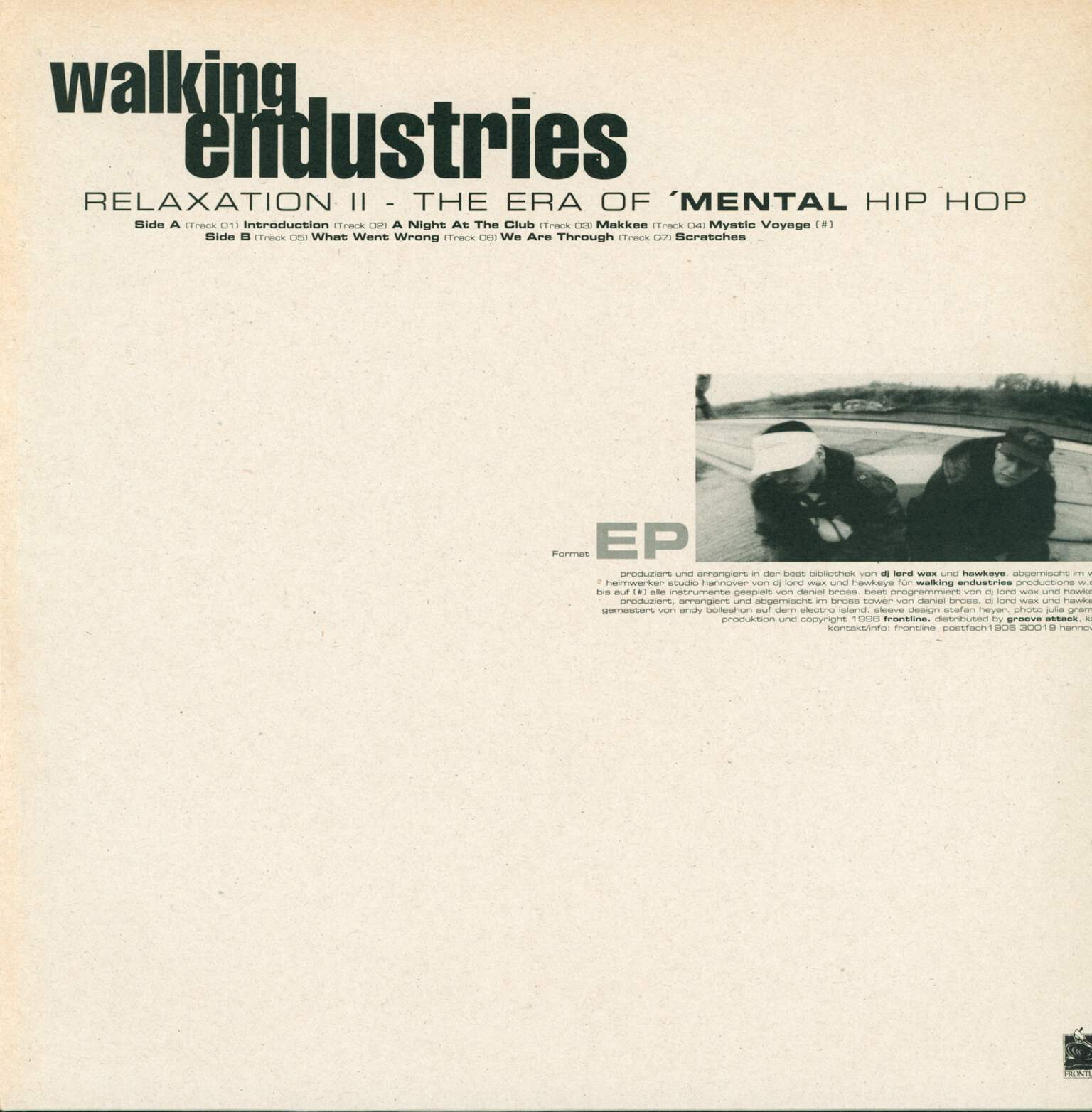 "Walking Endustries: Relaxation II - The Era Of 'Mental Hip Hop, 12"" Maxi Single (Vinyl)"