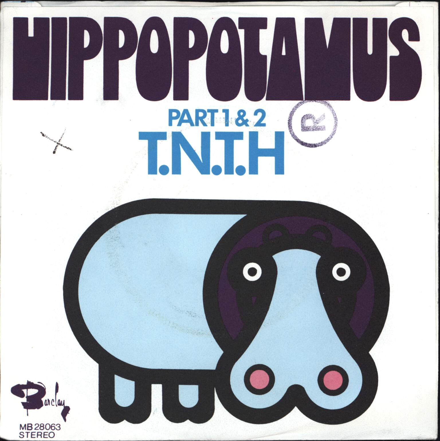 "T.N.T.H.: Hippopotamus Part 1 & 2, 7"" Single (Vinyl)"