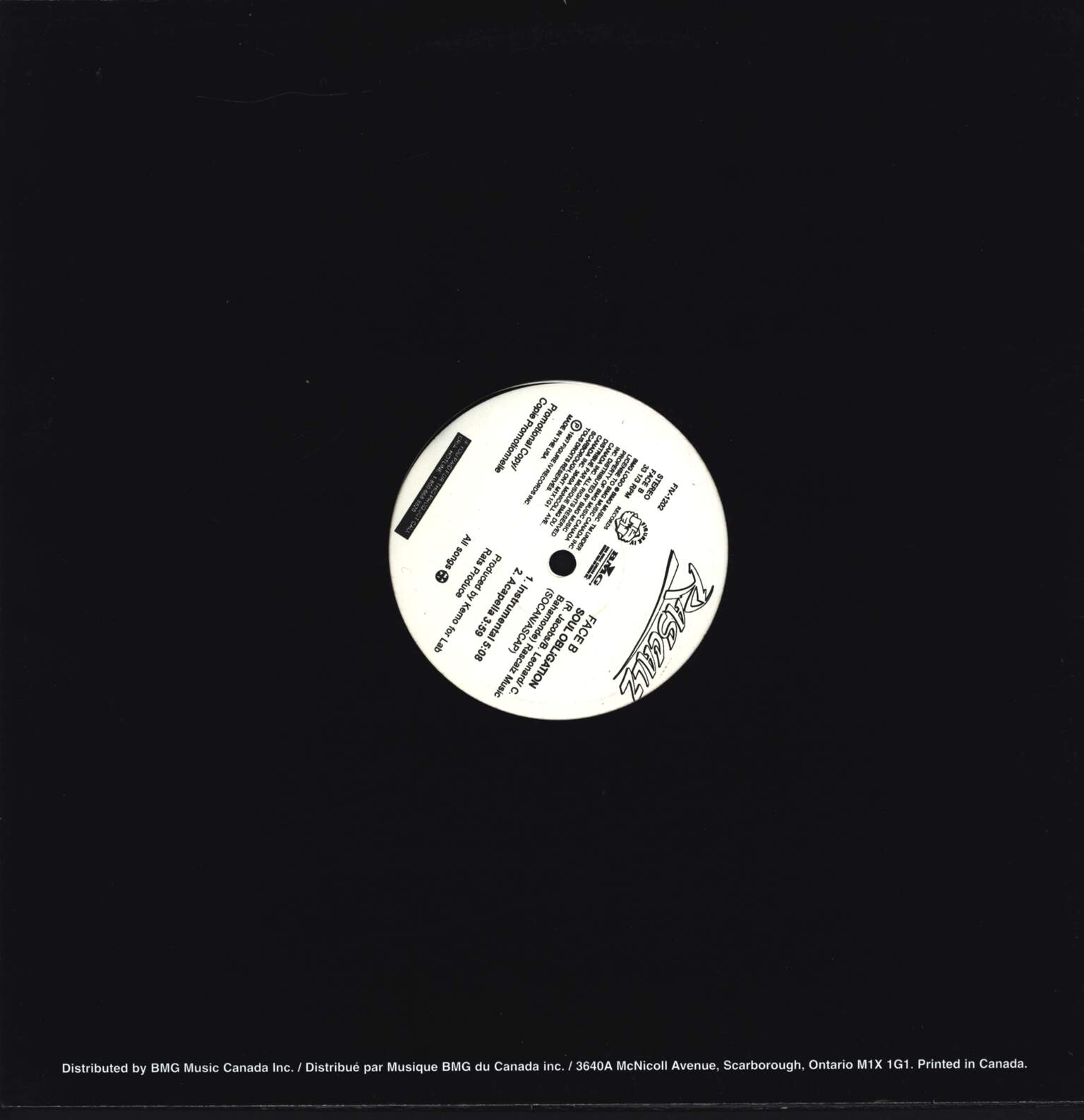 "Rascalz: Soul Obligation, 12"" Maxi Single (Vinyl)"