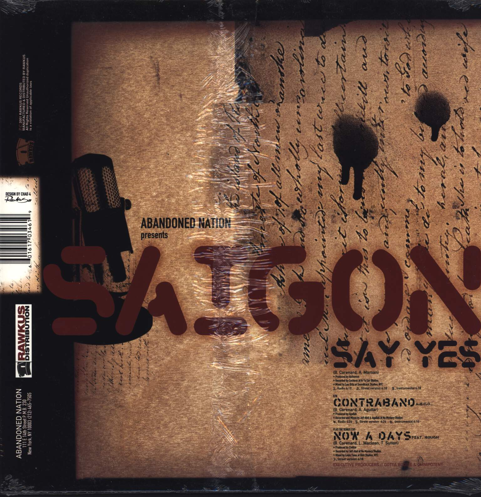 "Saigon: Say Yes, 12"" Maxi Single (Vinyl)"