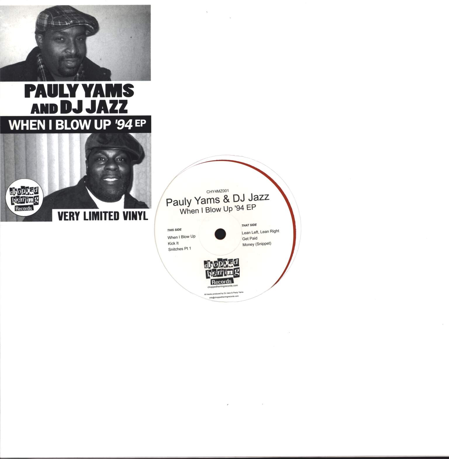 "Pauly Yamz: When I Blow Up '94 EP, 12"" Maxi Single (Vinyl)"