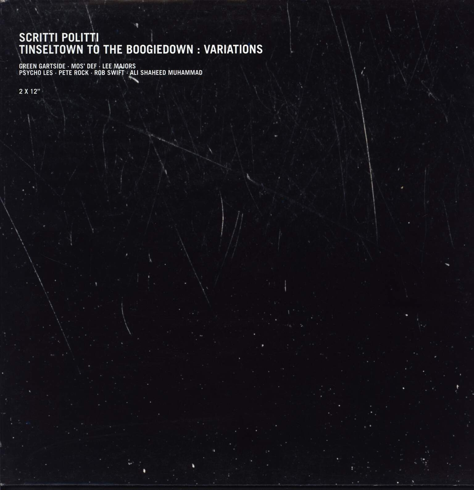 "Scritti Politti: Tinseltown To The Boogiedown : Variations, 12"" Maxi Single (Vinyl)"