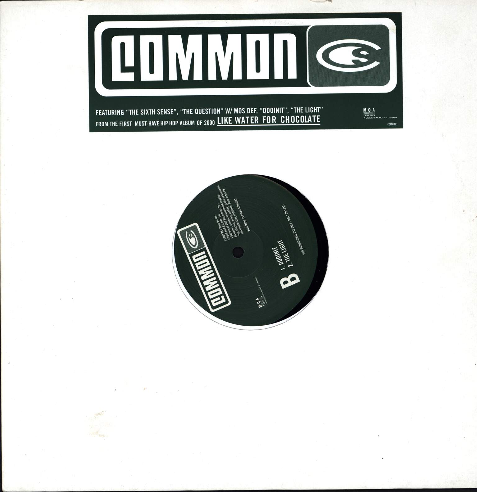 "Common: Like Water For Chocolate Sampler, 12"" Maxi Single (Vinyl)"