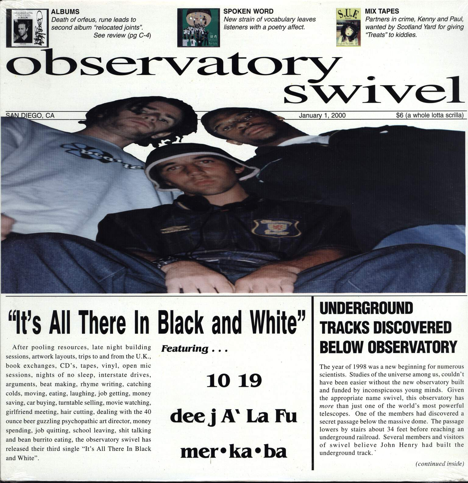 "Observatory Swivel: It's All There In Black And White, 12"" Maxi Single (Vinyl)"