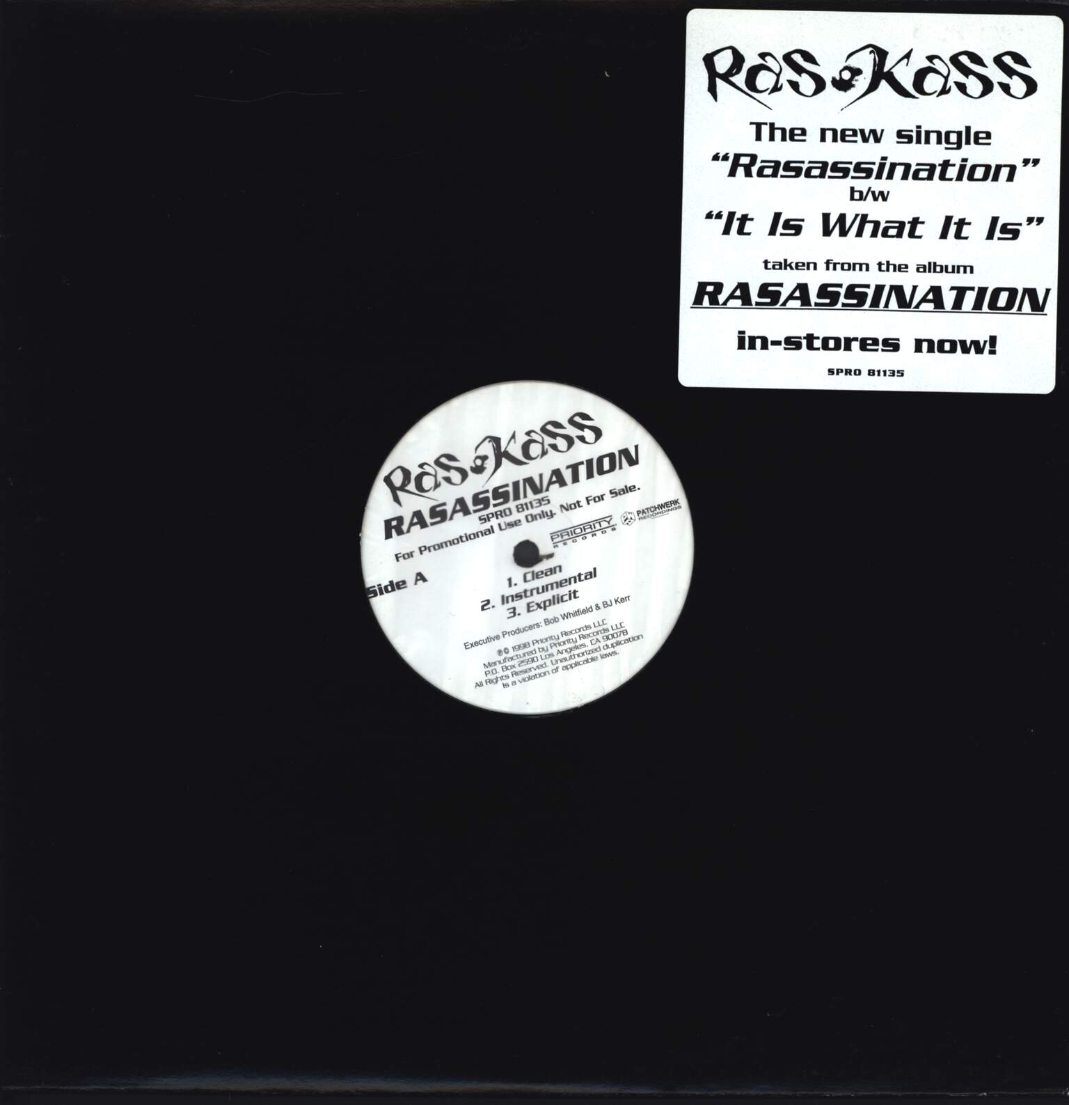"Ras Kass: Rasassination / It Is What It Is, 12"" Maxi Single (Vinyl)"