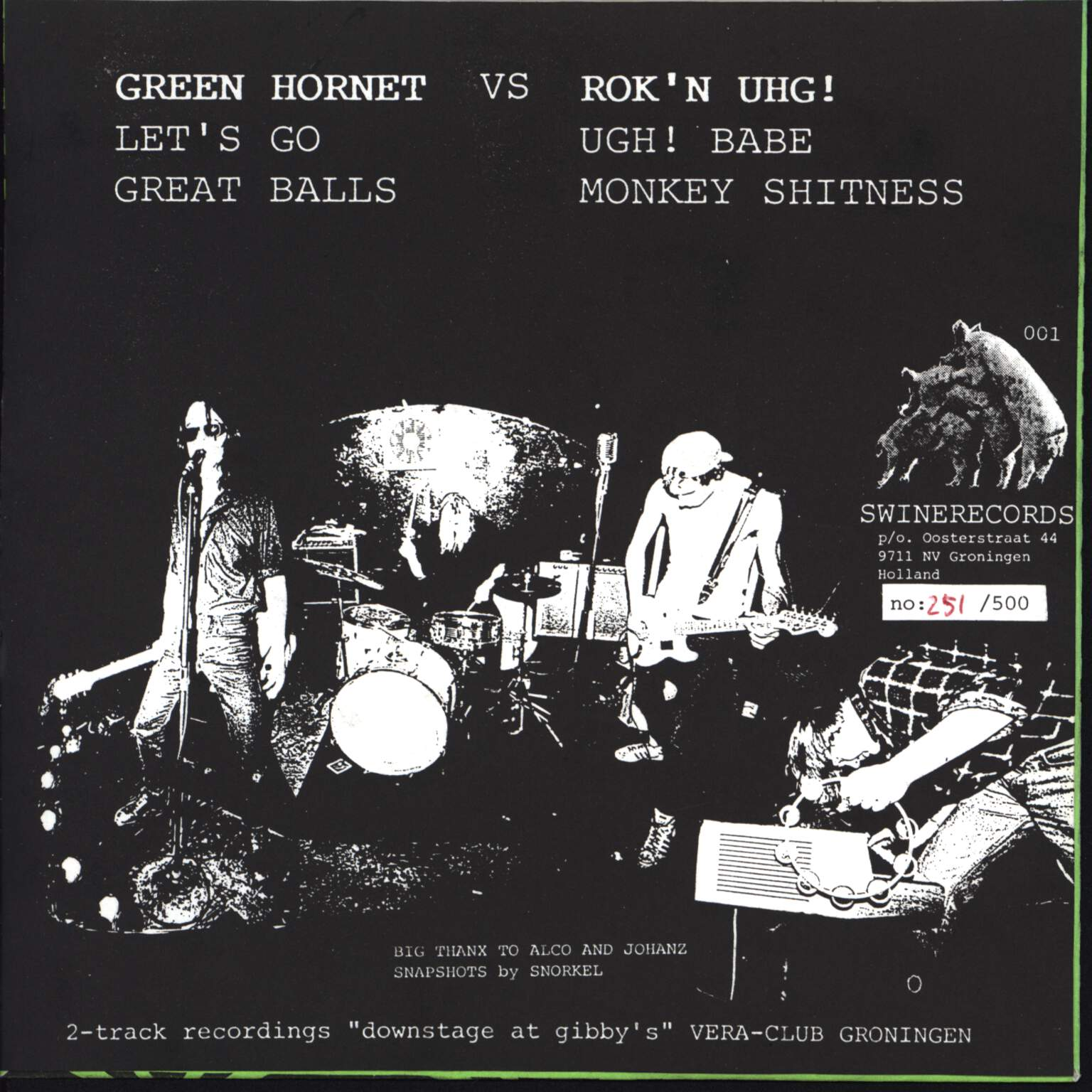 "Green Hornet: Green Hornet Vs Rok 'N Uhg!, 7"" Single (Vinyl)"