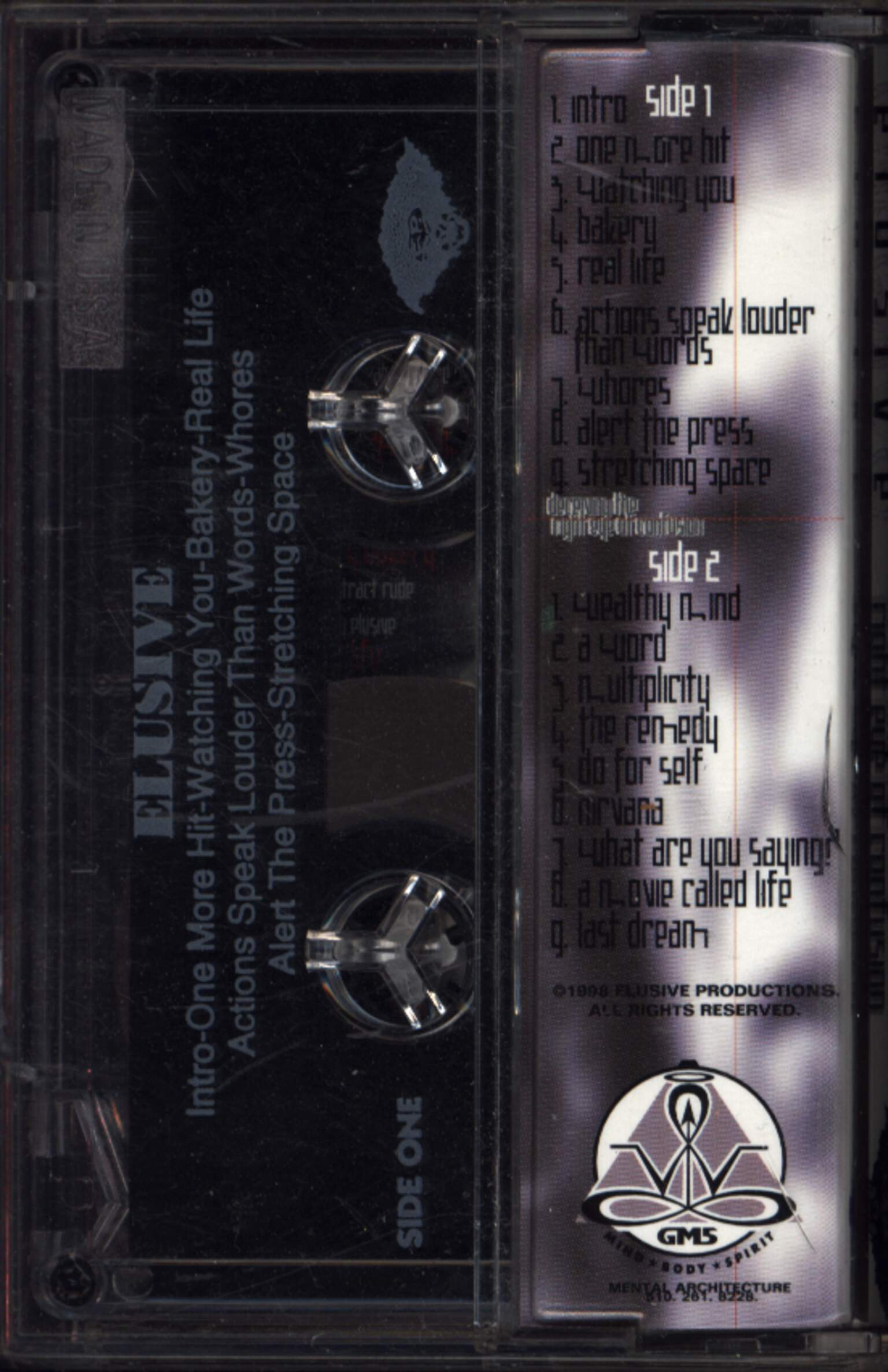 Elusive: Deceiving The Right Eye Of Confusion, Compact Cassette