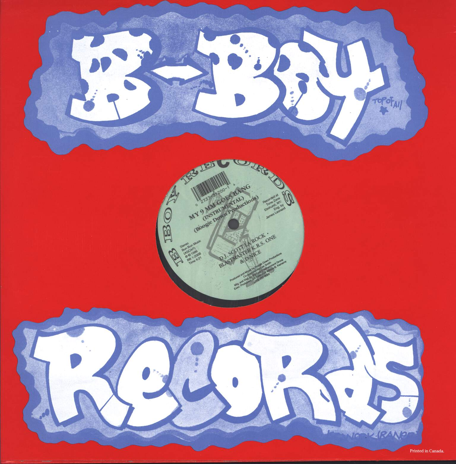 "Boogie Down Productions: My 9mm Goes Bang, 12"" Maxi Single (Vinyl)"