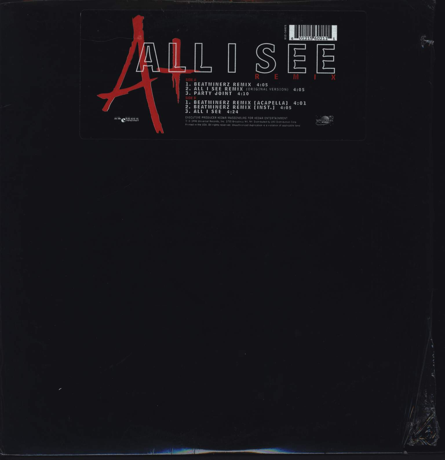 "A +: All I See (Remix), 12"" Maxi Single (Vinyl)"