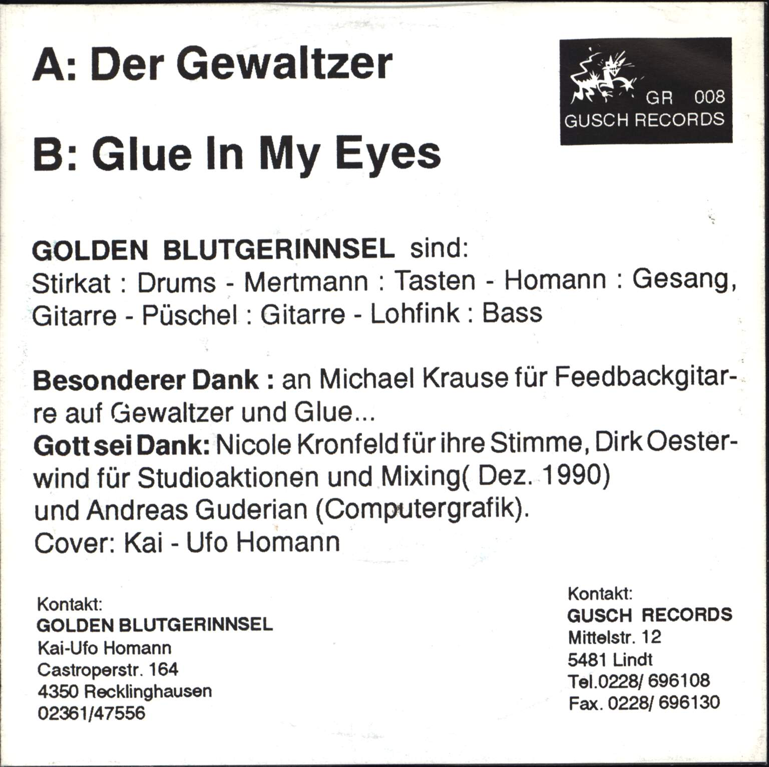 "Golden Blutgerinnsel: Der Gewaltzer, 7"" Single (Vinyl)"